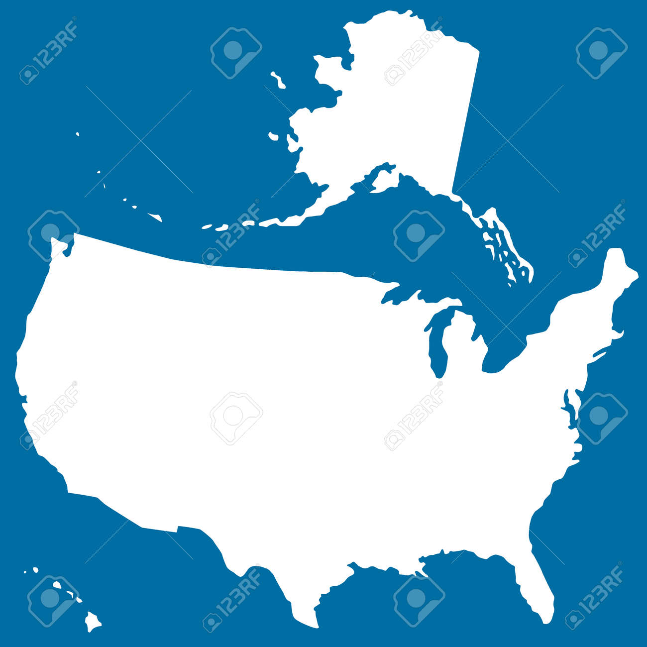 Cutout Silhouette Map Of The USA Source Of Map Httpwwwlib - Us map silhouette