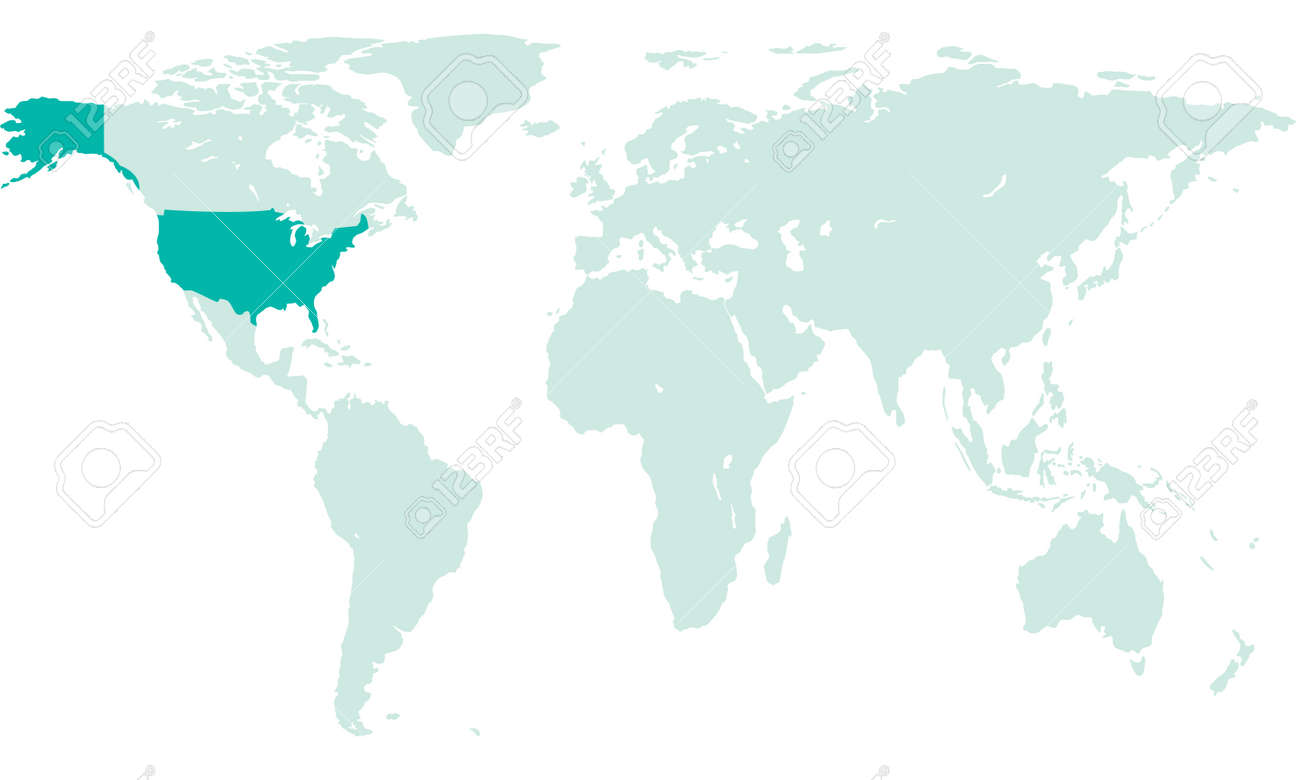 Silhouette map of the usa on the world map all objects are silhouette map of the usa on the world map all objects are independent and fully gumiabroncs Image collections
