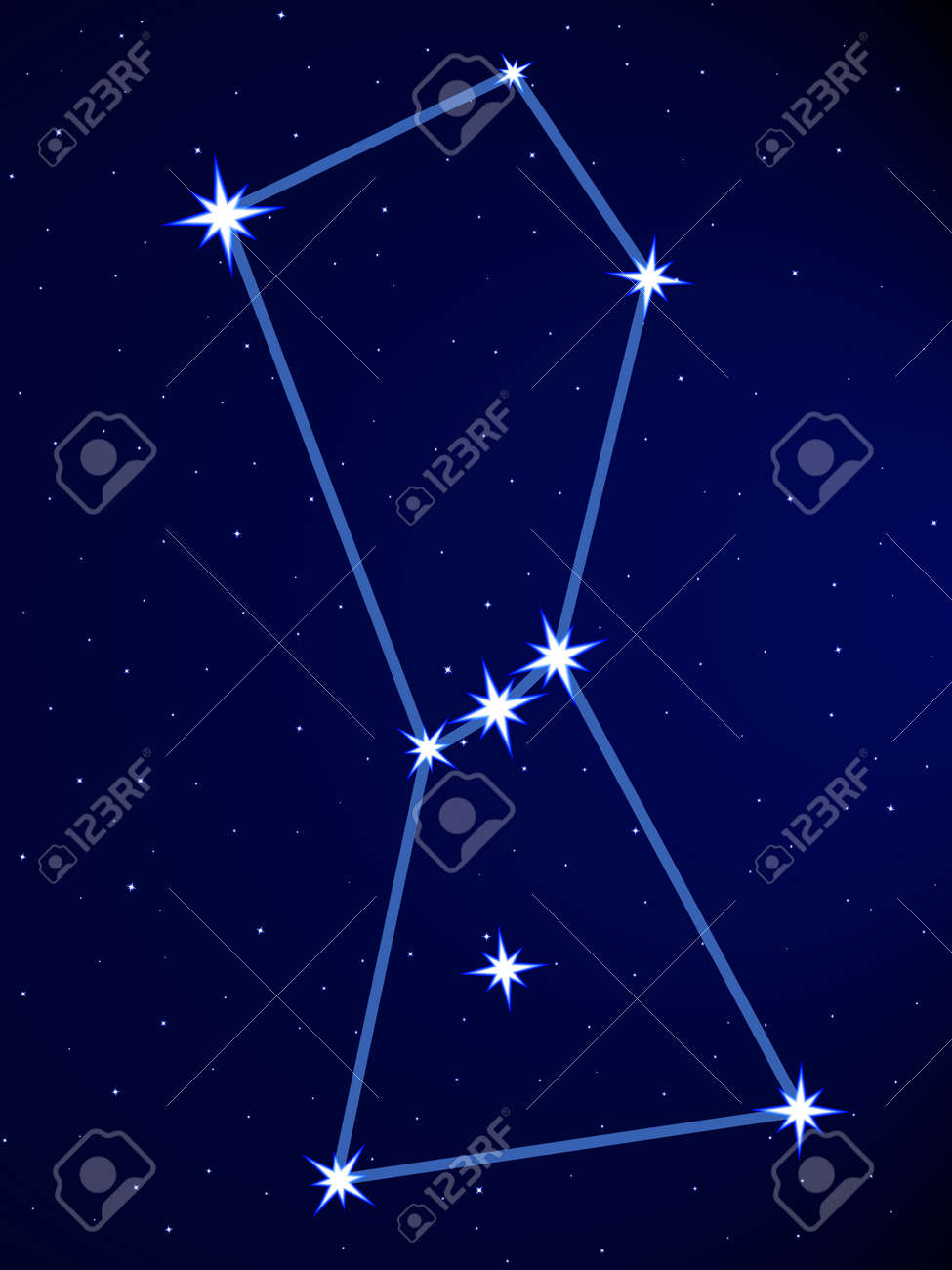 orion constellation on the starry sky royalty free cliparts vectors