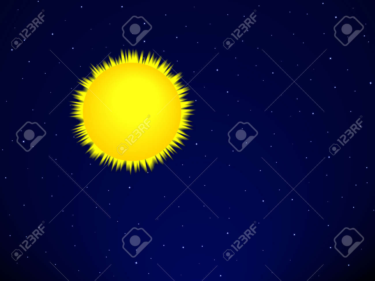 Sun on the space background Stock Vector - 29231144