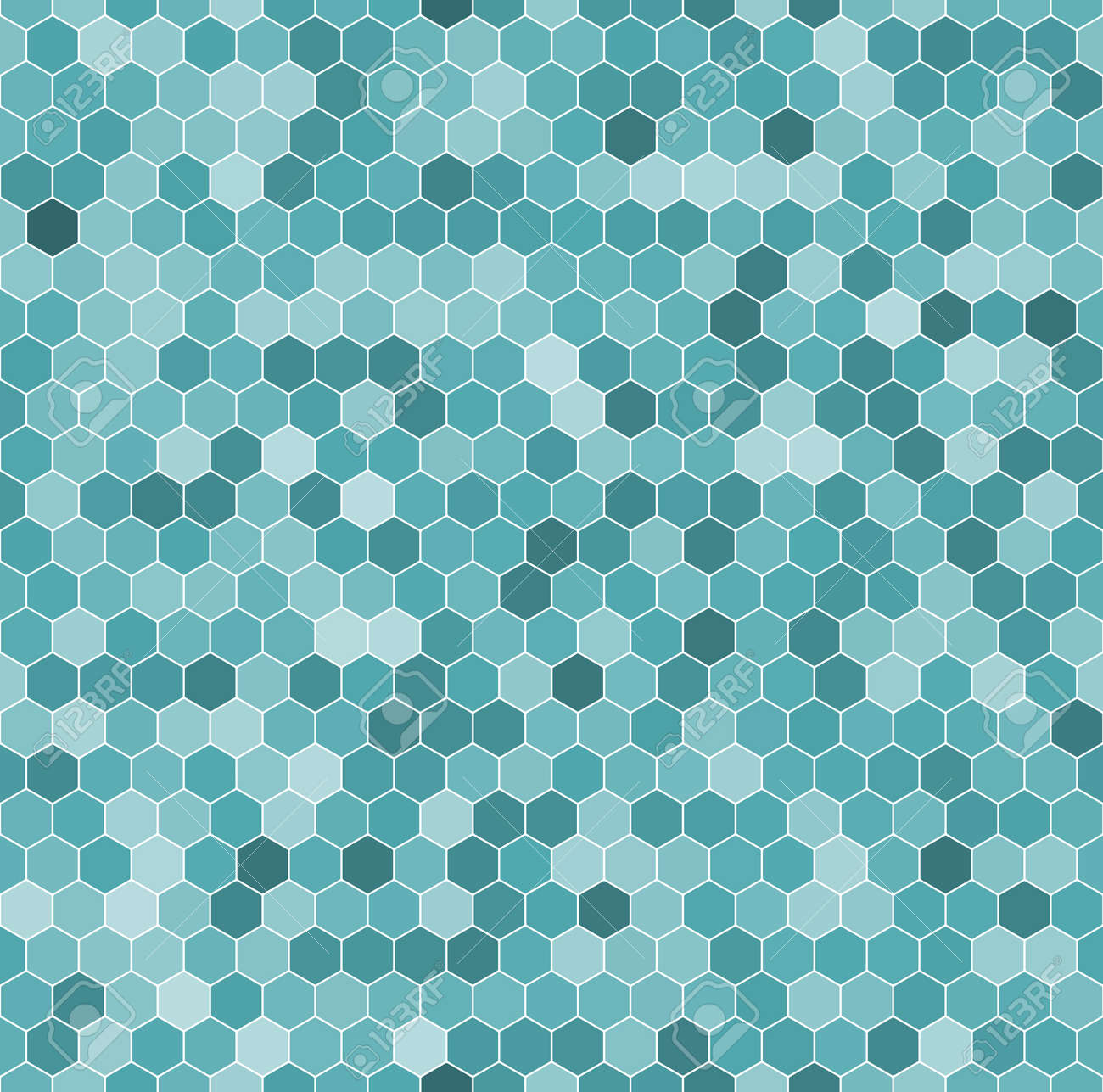 Seamless Pattern Of The Hexagon Mosaic Tiles Royalty Free Cliparts ...