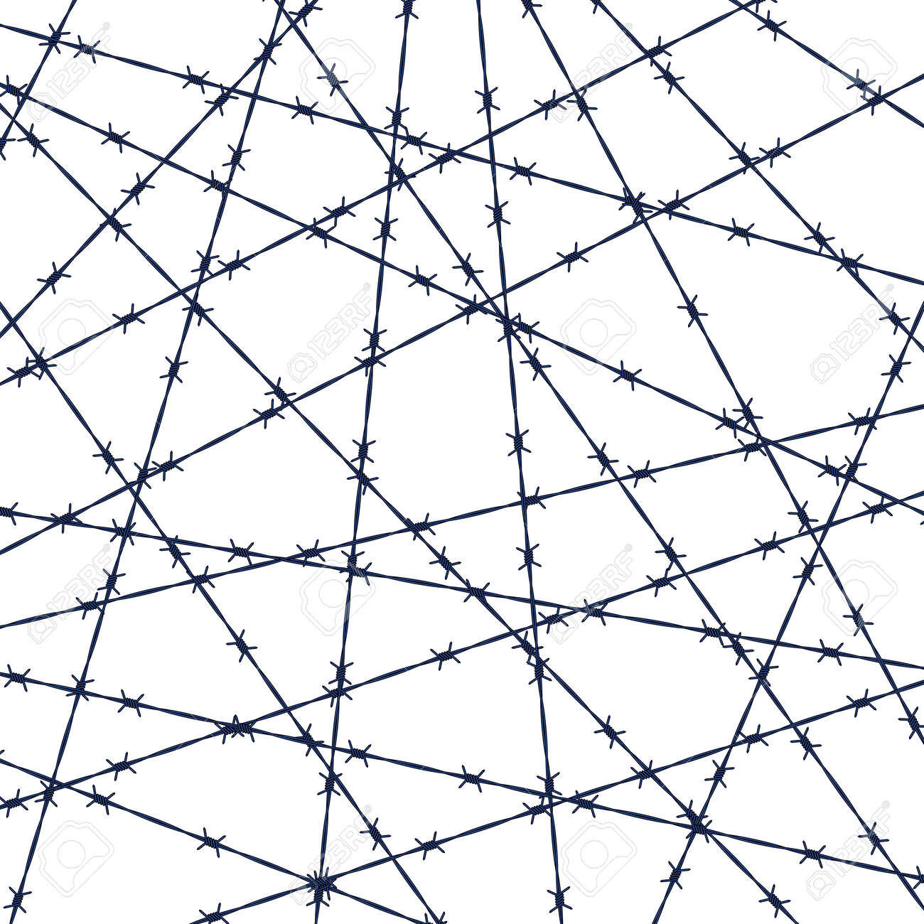 Illustration Of The Abstract Barbed Wire Background Royalty Free ...