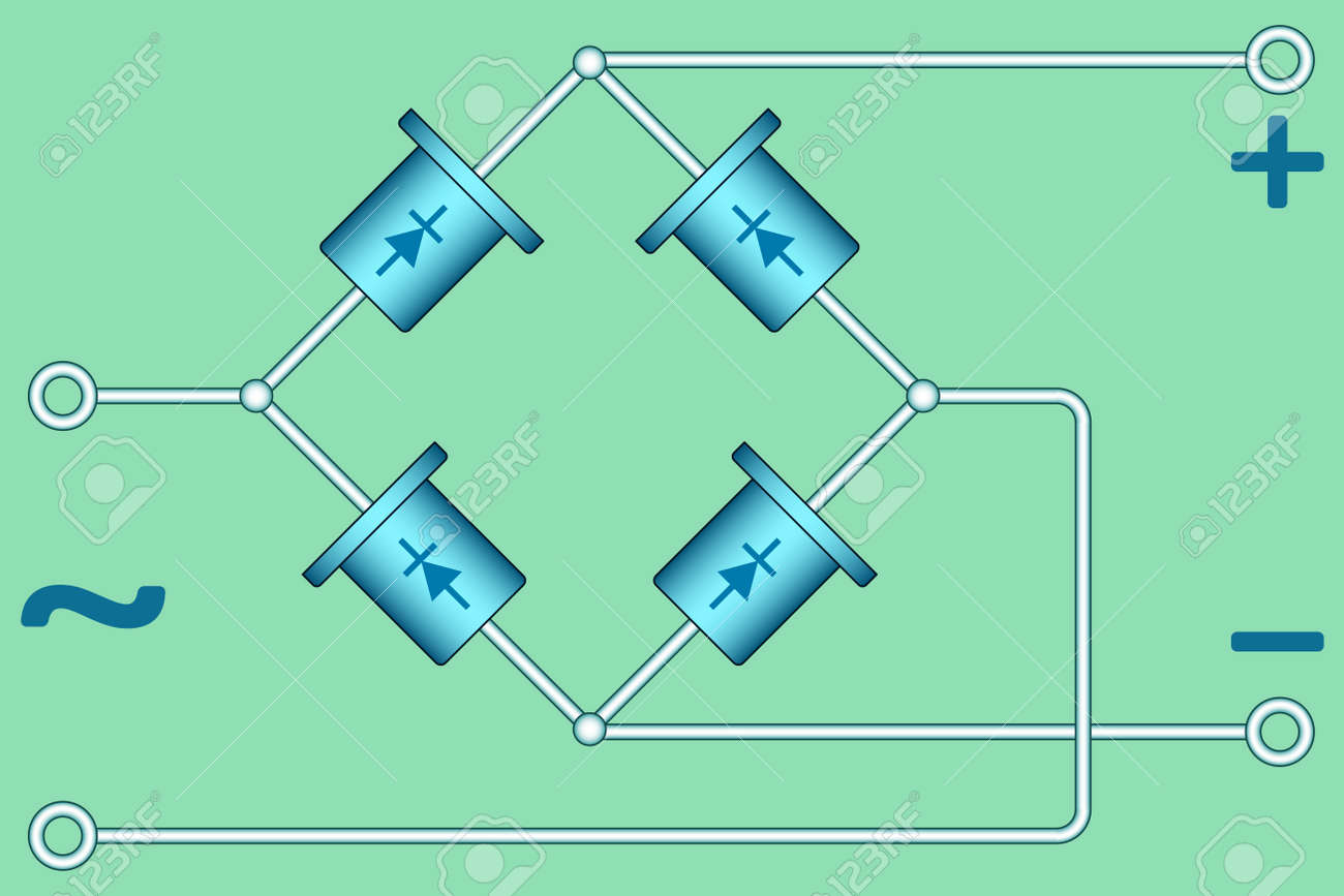 Illustration Of The Diode Bridge Diagram Royalty Free Cliparts ...