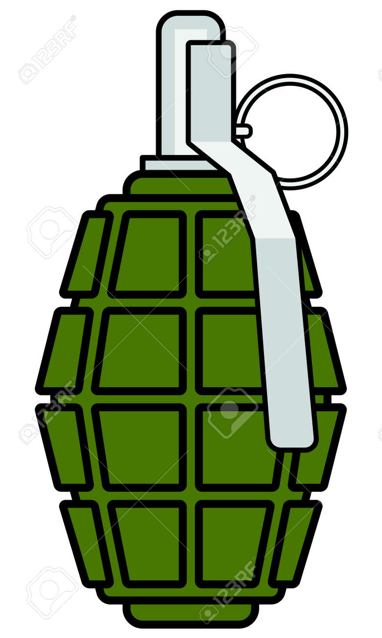 illustration of the military grenade icon royalty free cliparts rh 123rf com
