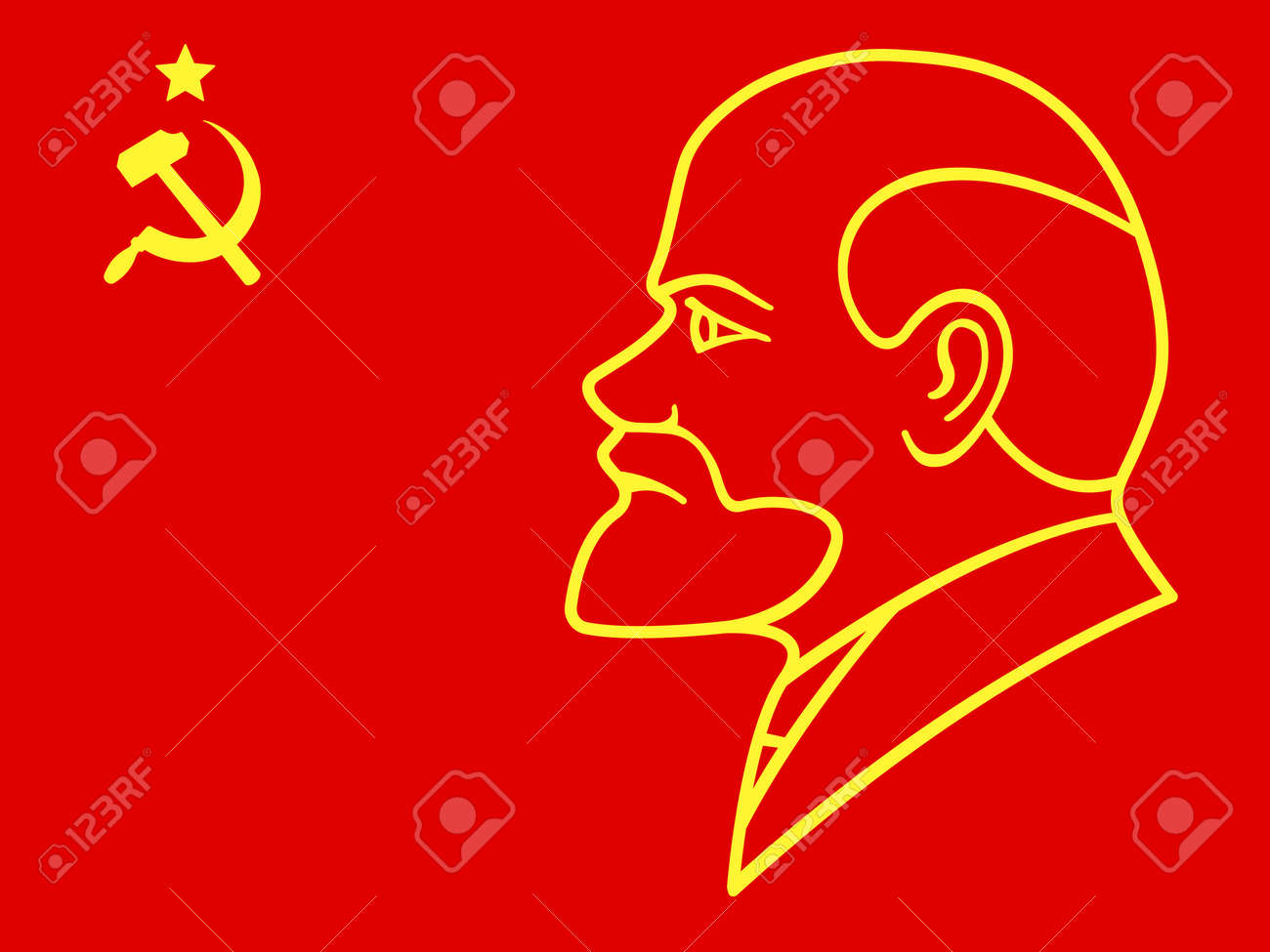 Illustration of the lenin portrait on ussr flag royalty free illustration of the lenin portrait on ussr flag stock vector 74304594 biocorpaavc