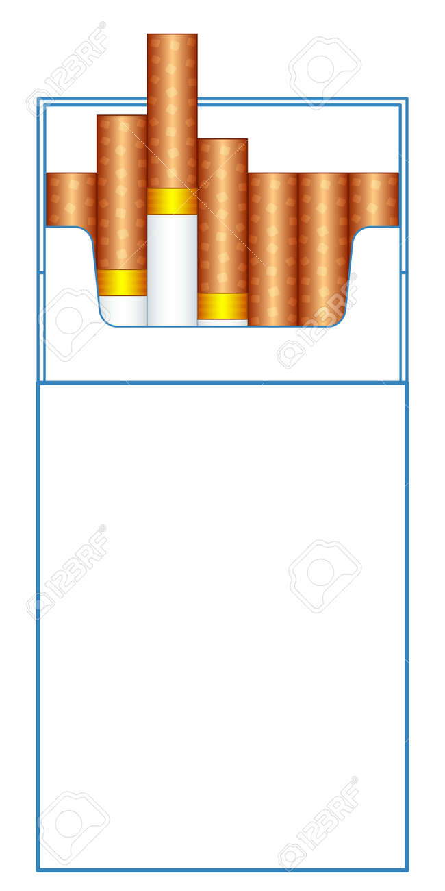illustration of the cigarette pack template royalty free cliparts