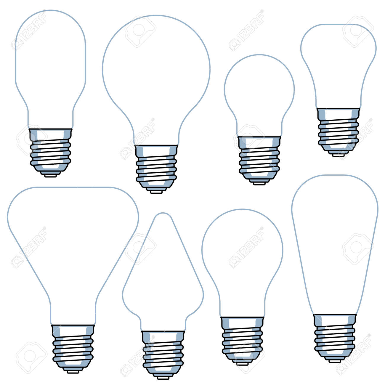 image relating to Light Bulb Template Printable named mild bulb template -