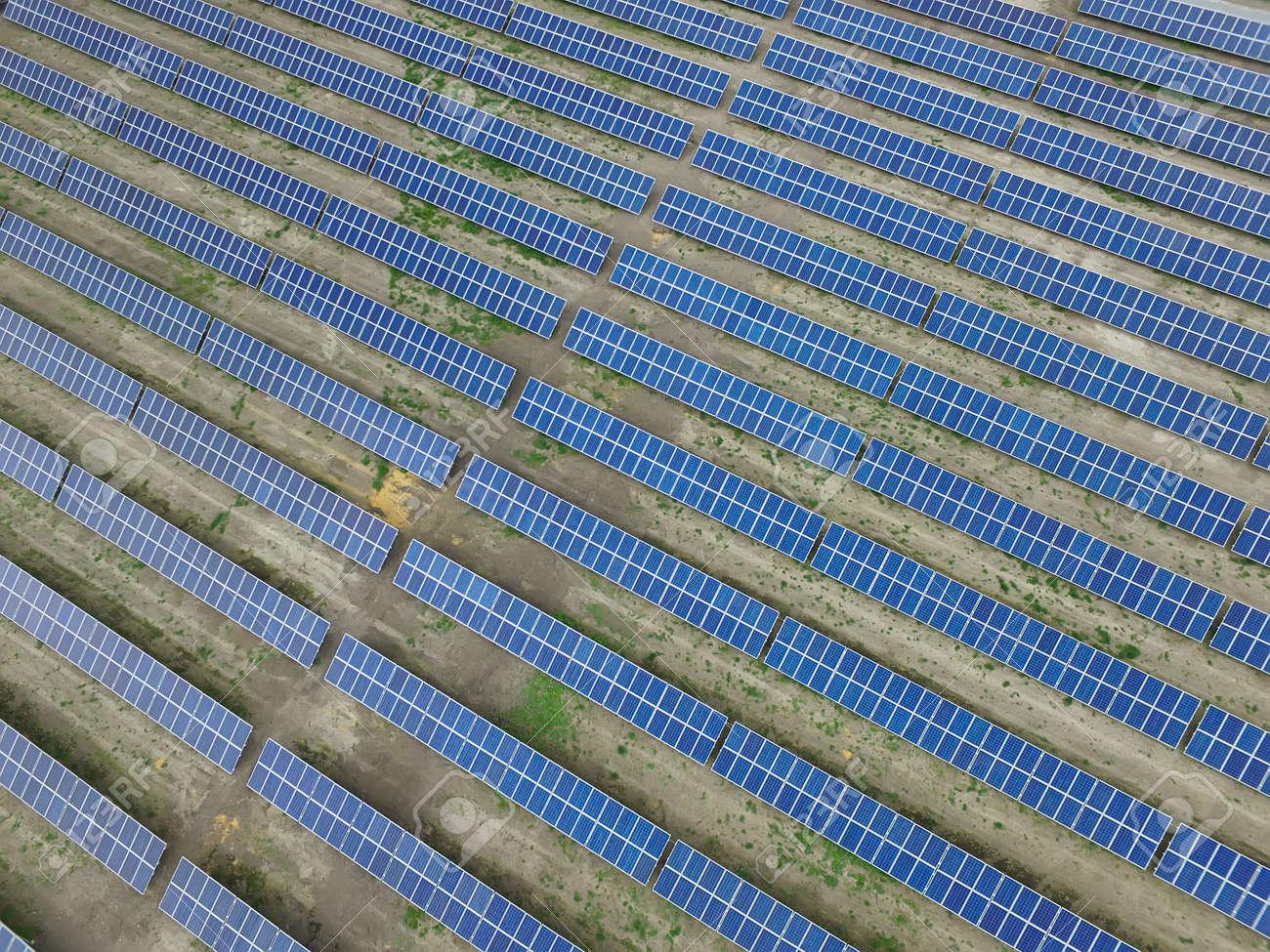 Renewable sun energy, industrial landscape - 126328997