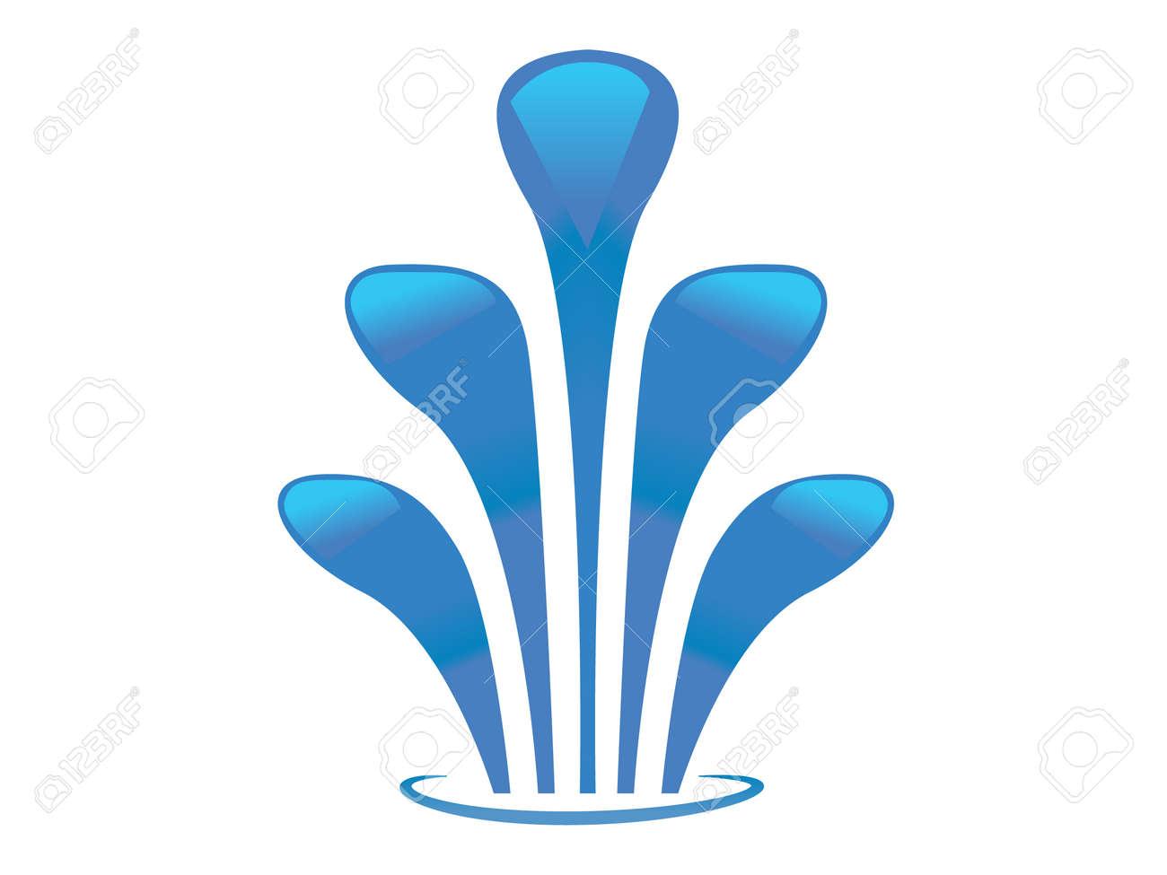 fuente de agua que salpica icono vector del agua foto de archivo