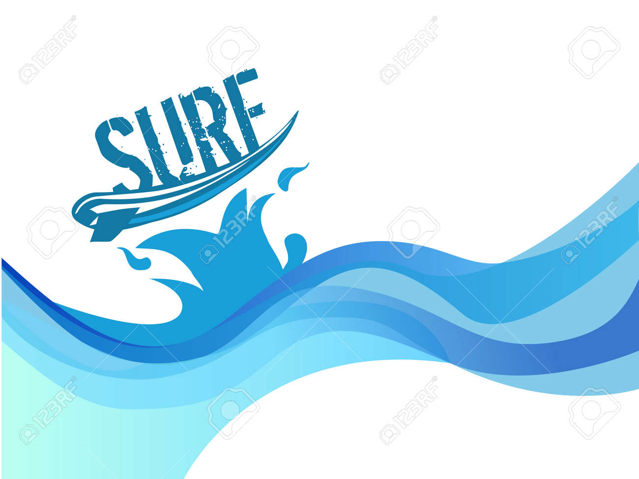 surf on wave background water waves vector design royalty free rh 123rf com wave vector k wavevector spectrum