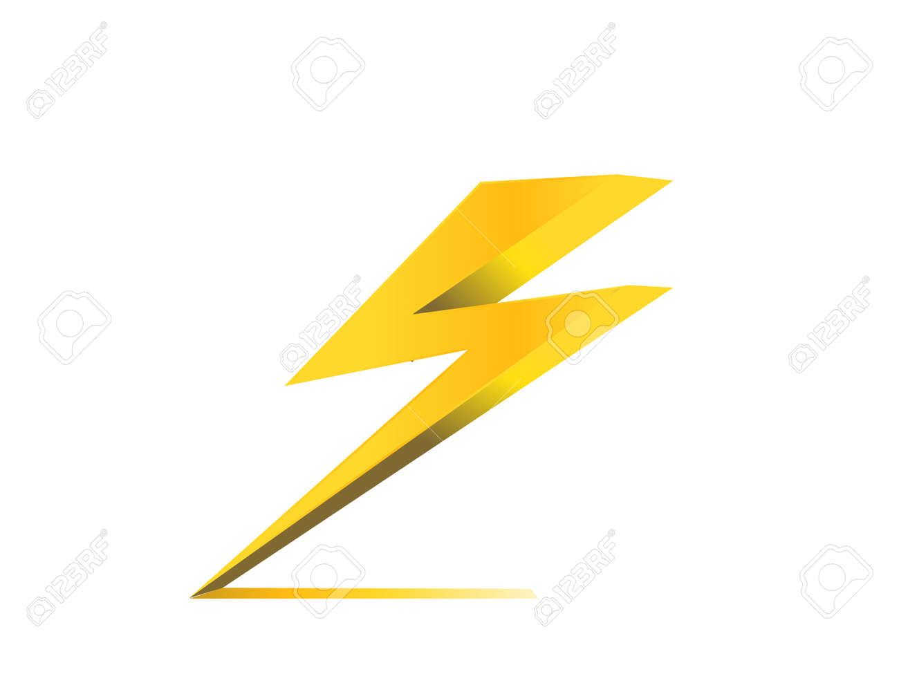 Thunder Electric Charge Symbol Icon Vector Royalty Free Cliparts