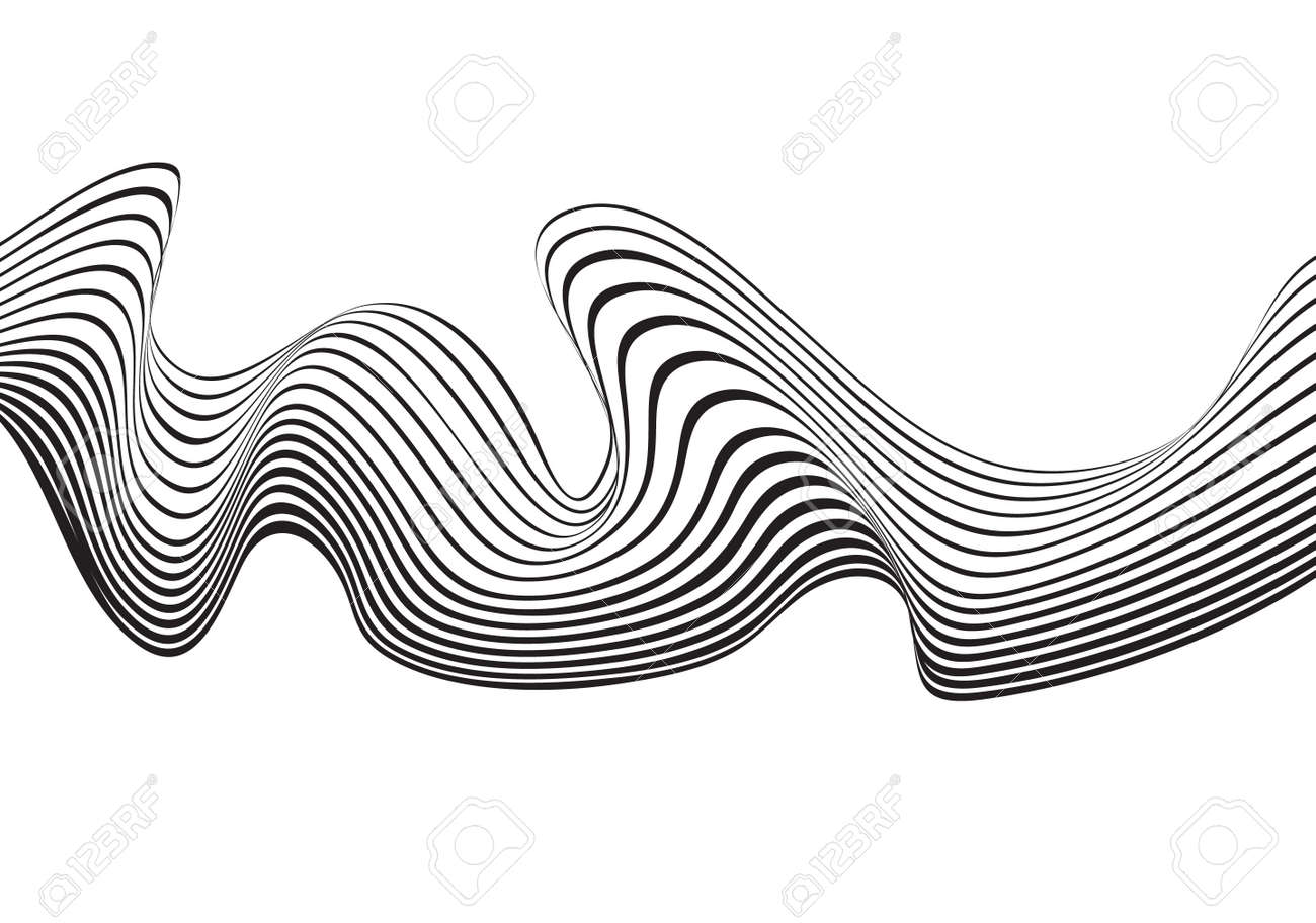 Optical Art Background Wave Design Black And White Stock Vector   41911813