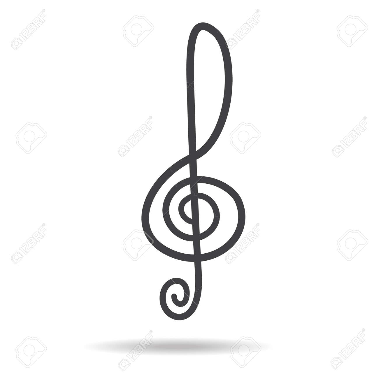 violin key sign vector music symbol black royalty free cliparts rh 123rf com vector music artist vector music artist
