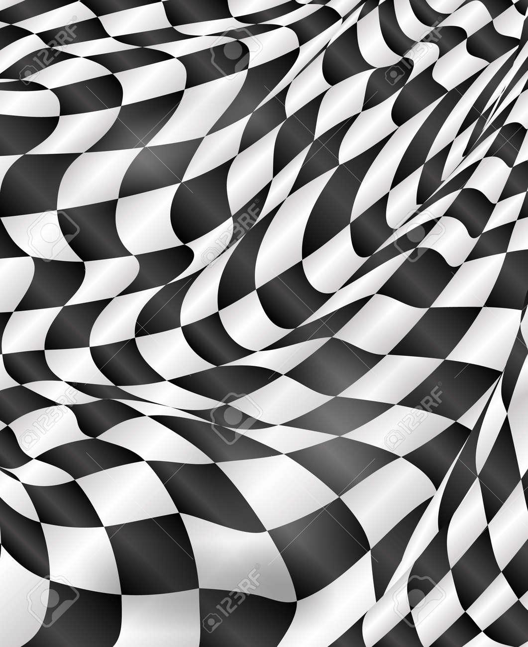 Checkered Design Checkered Flag Background Race Flag Design Vector Royalty Free
