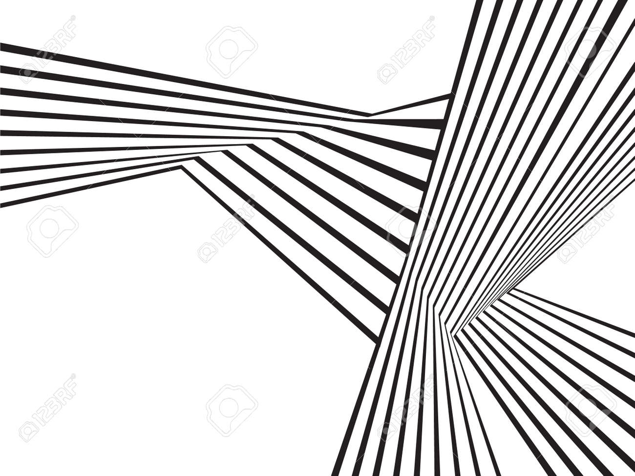 Black And White Mobious Wave Stripe Optical Abstract Design Royalty