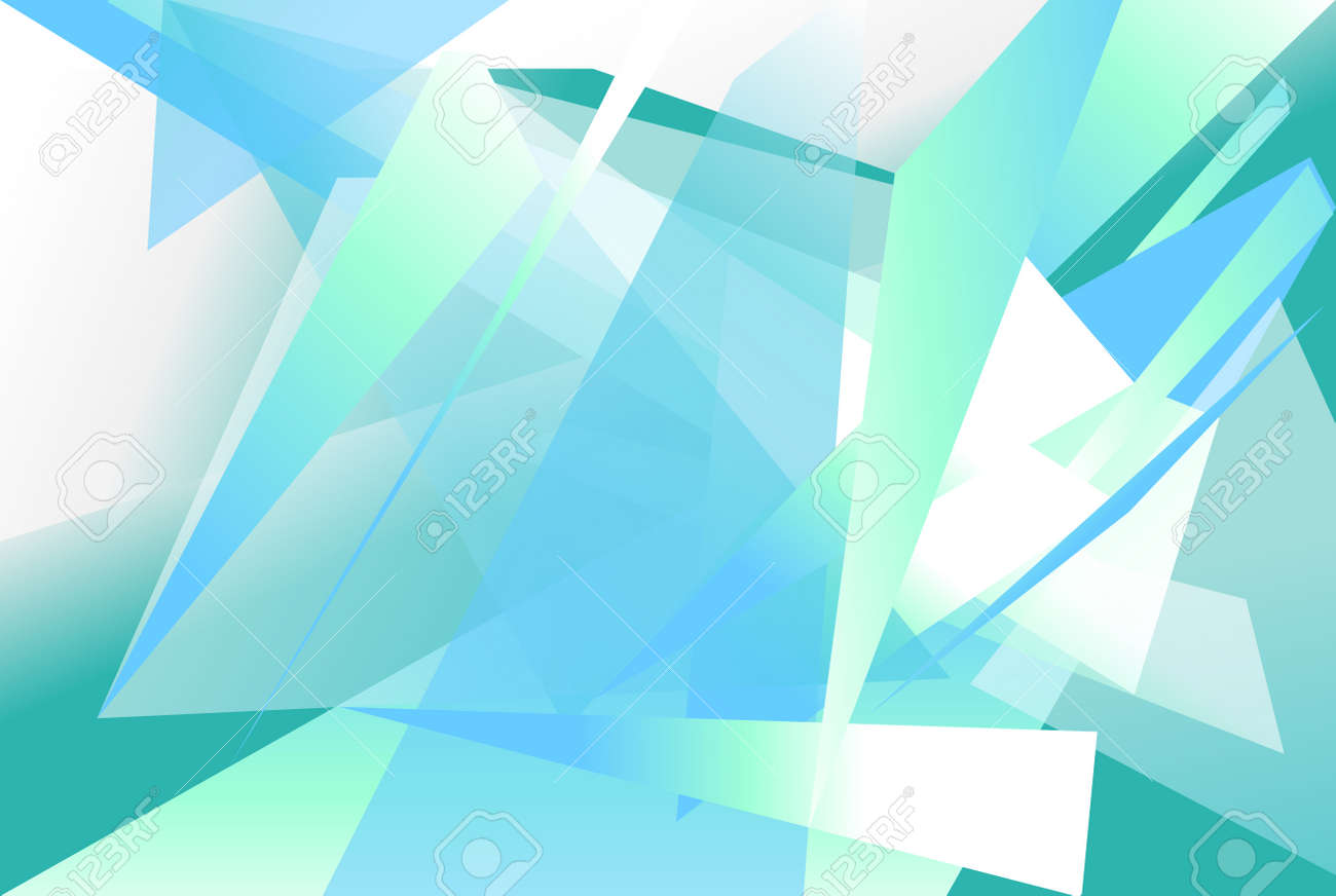 Superior Futuristic Background With Angular, Edgy Shapes. Abstract Geometric Vector  Art. Stock Vector