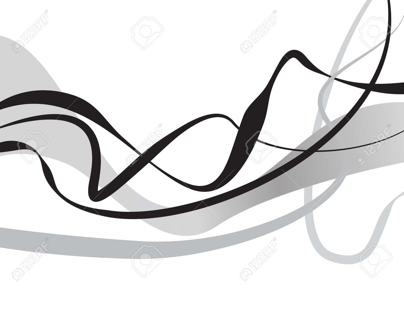 Curved Lines In Art : Abstract art vector background with curvy curved lines
