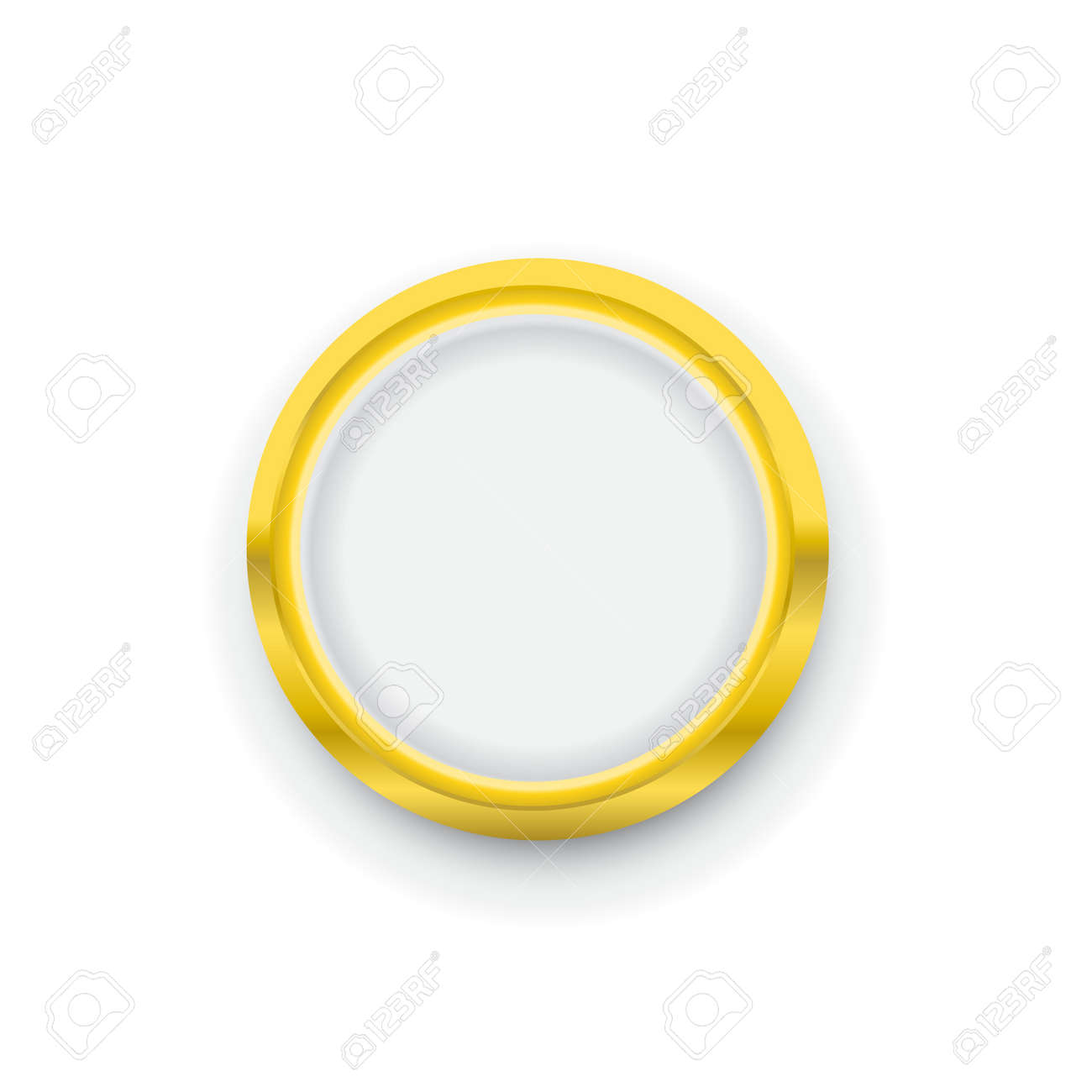 golden round badge coin emblem icon vector royalty free cliparts