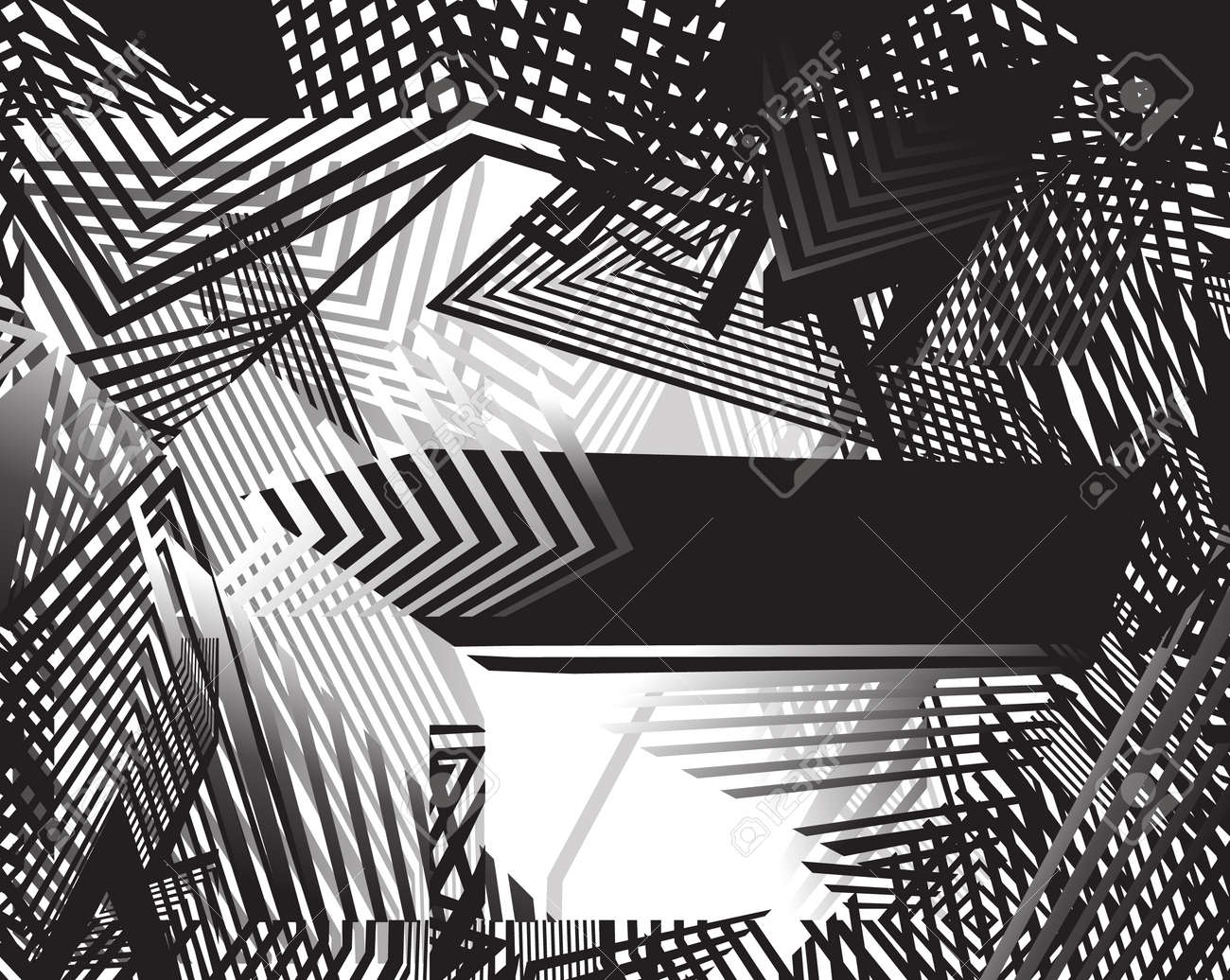Line Design Op Art : Black and white op art visualizes energy oscillations