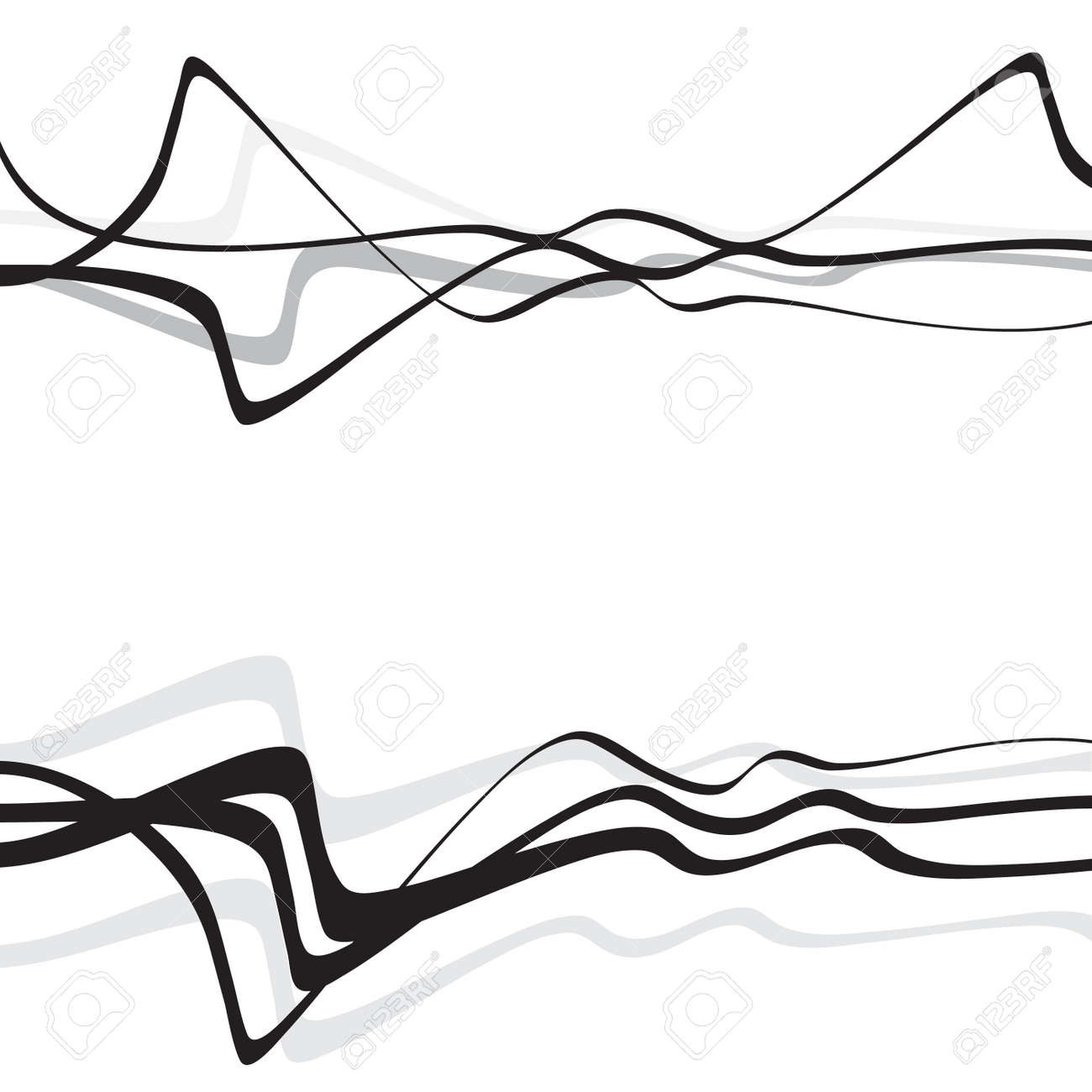 Abstract Art Design Abstract Background With Curvy Curved Lines