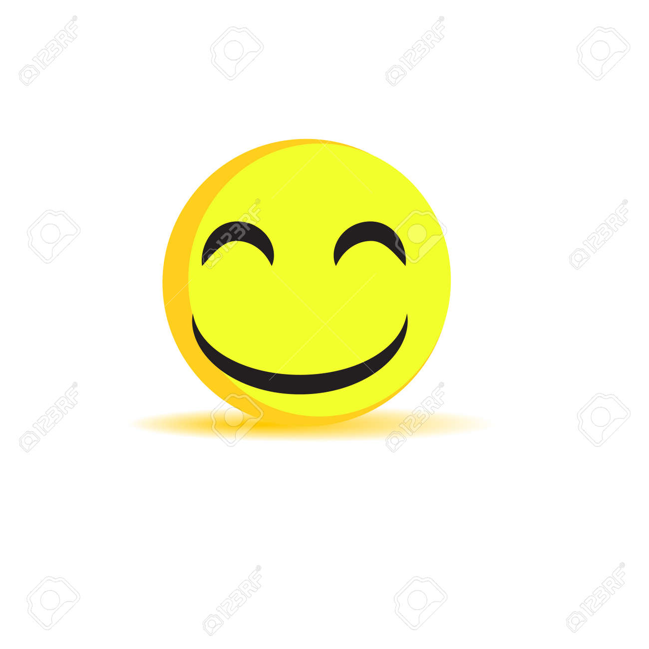Smile Laughing Face Isolated Symbol Sign Icon Emoticon Stock Vector