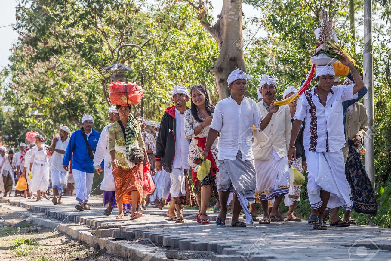 Village Of Besakih Bali Indonesia Circa October 2015 People