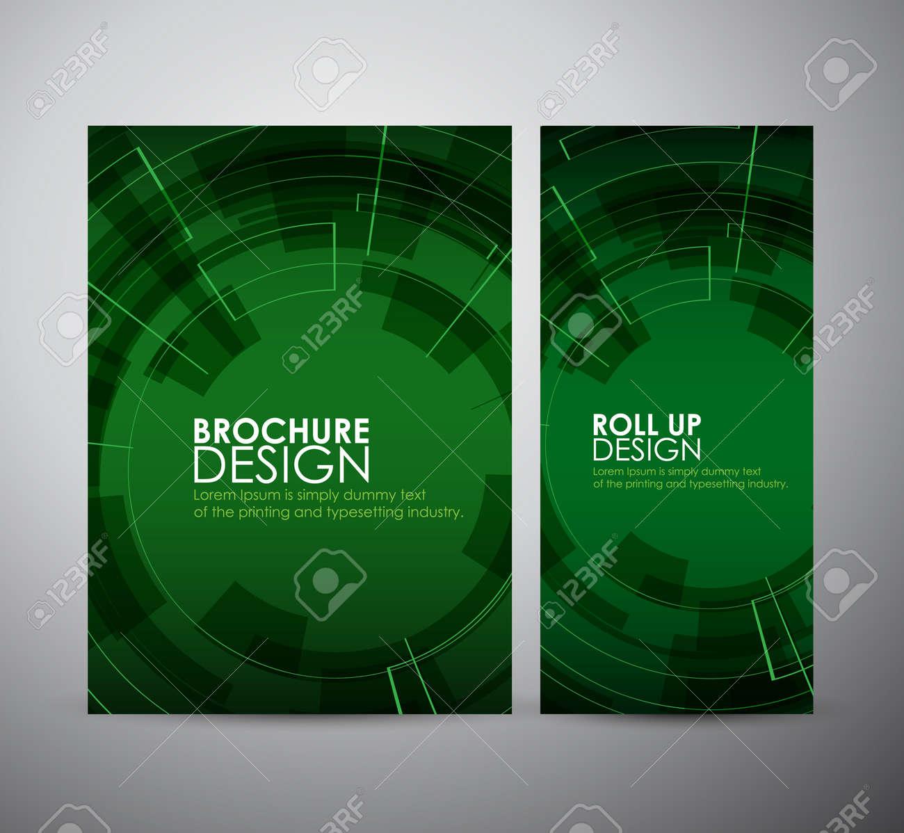 Broschüre Business-Design Zusammenfassung Moderne Technologie ...
