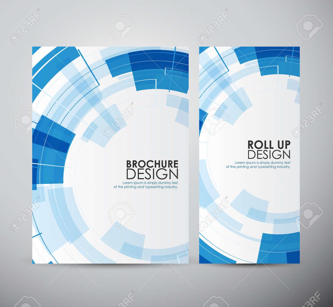 brochure business design abstract modern technology circles template