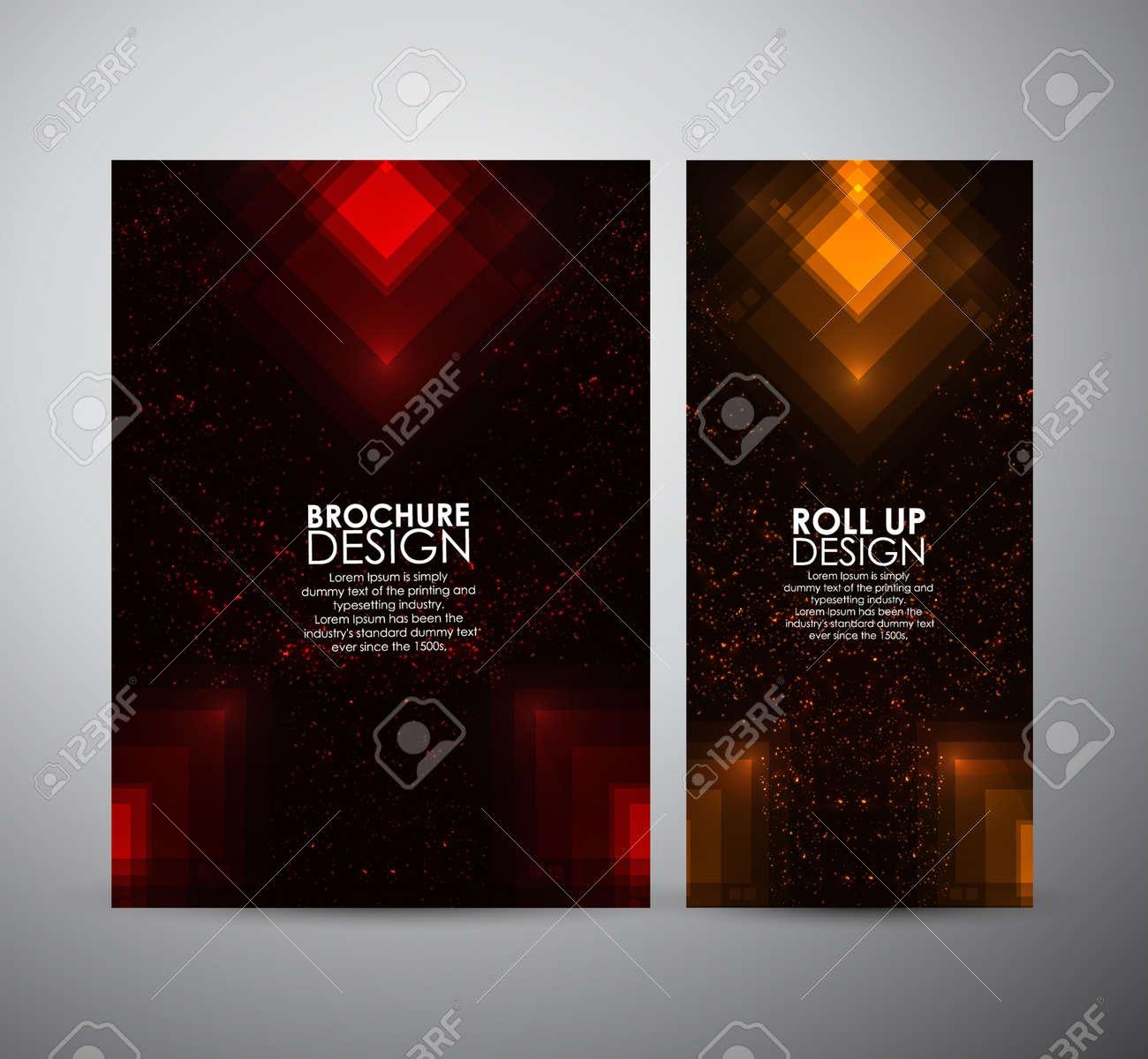 Abstrakt Quadrate Leuchtenden Muster. Broschüre Business-Design ...