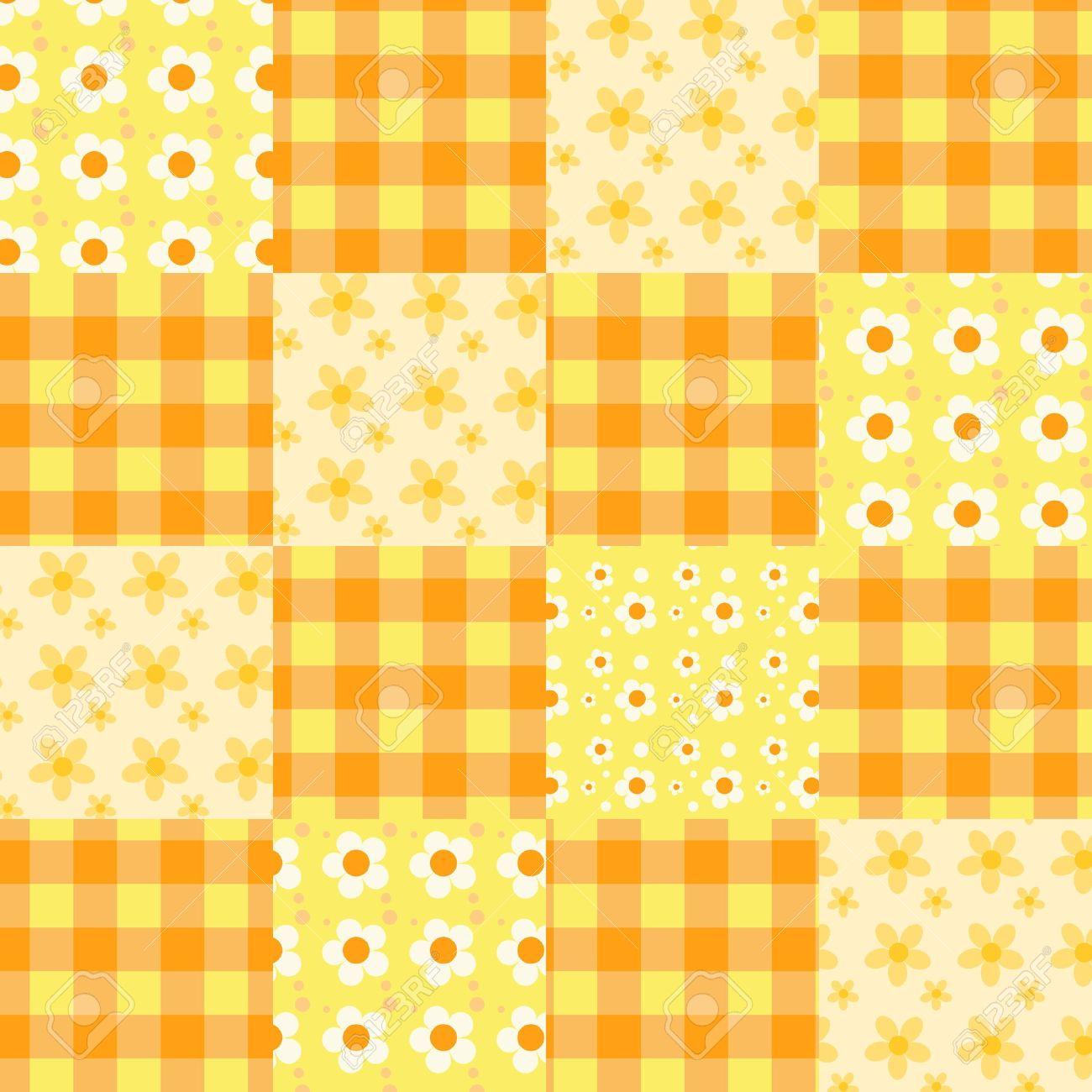 Seamless patchwork orange pattern. Stock Vector - 12253501