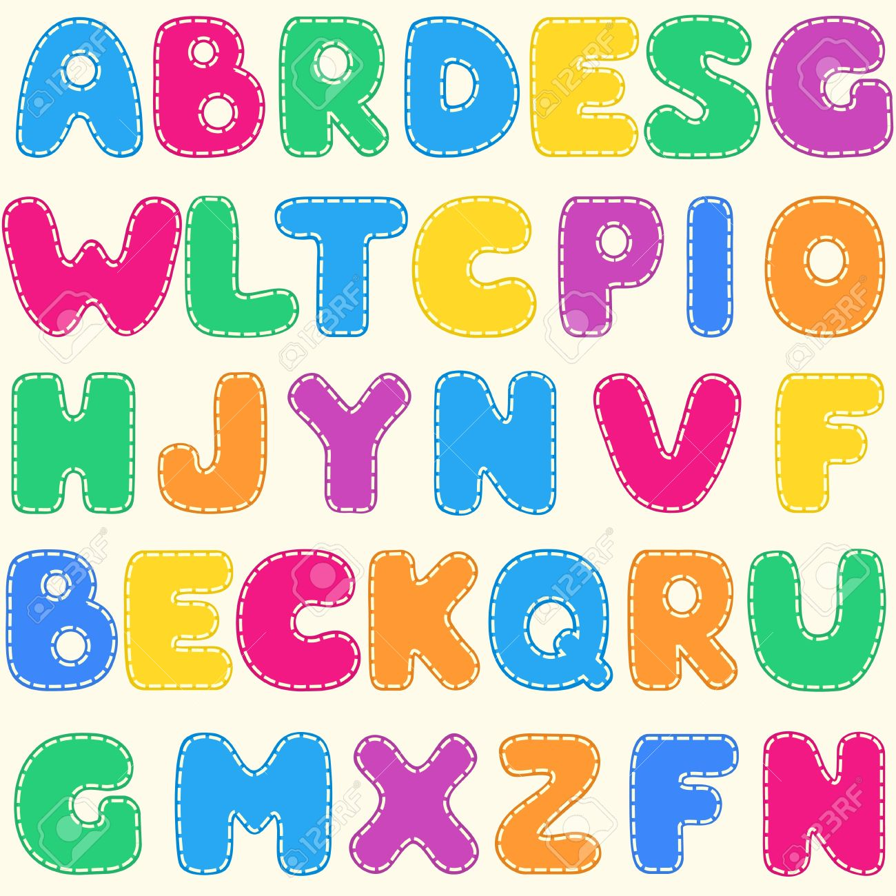 Seamless Children S Bright Alphabet Pattern Royalty Free Cliparts