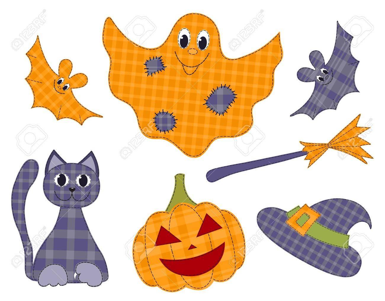 Halloween patchwork set Stock Vector - 15695537