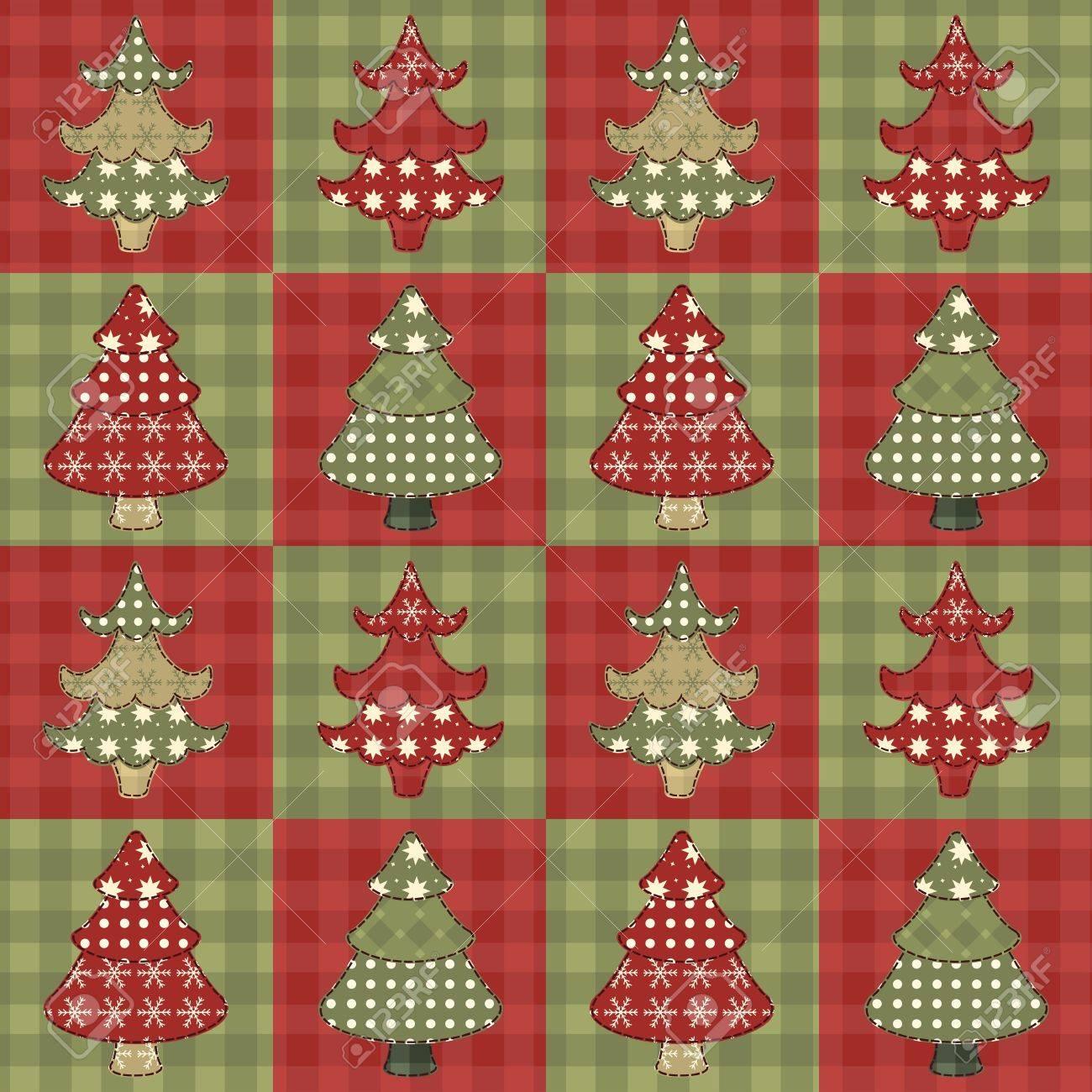 Christmas tree  seamless pattern 1 Stock Vector - 16539670