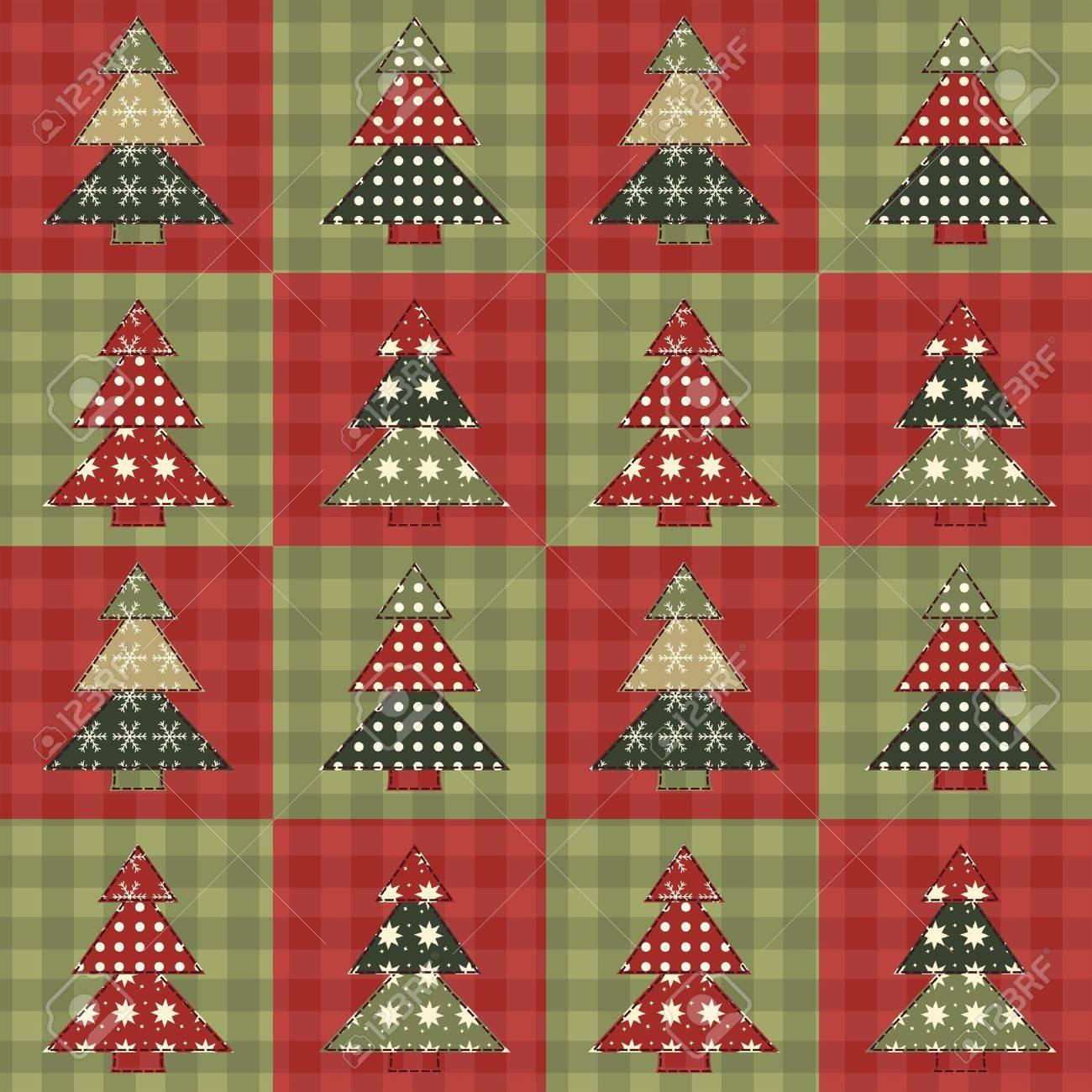 Christmas tree  seamless pattern 3 Stock Vector - 16539666