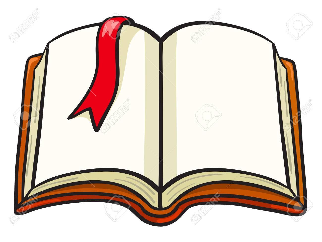 Livre De Dessin Anime Avec Un Signet Rouge