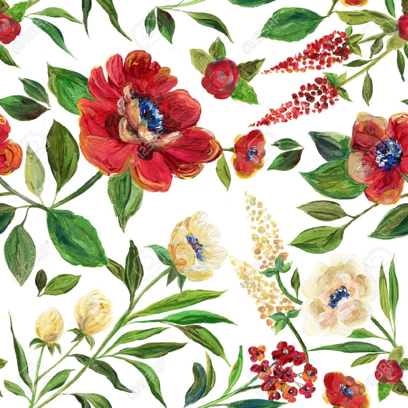 イラストの織物、壁紙、結婚式、誕生日および別の休日。かわいい夏と春の背景します。アクリル クラレット花と花柄
