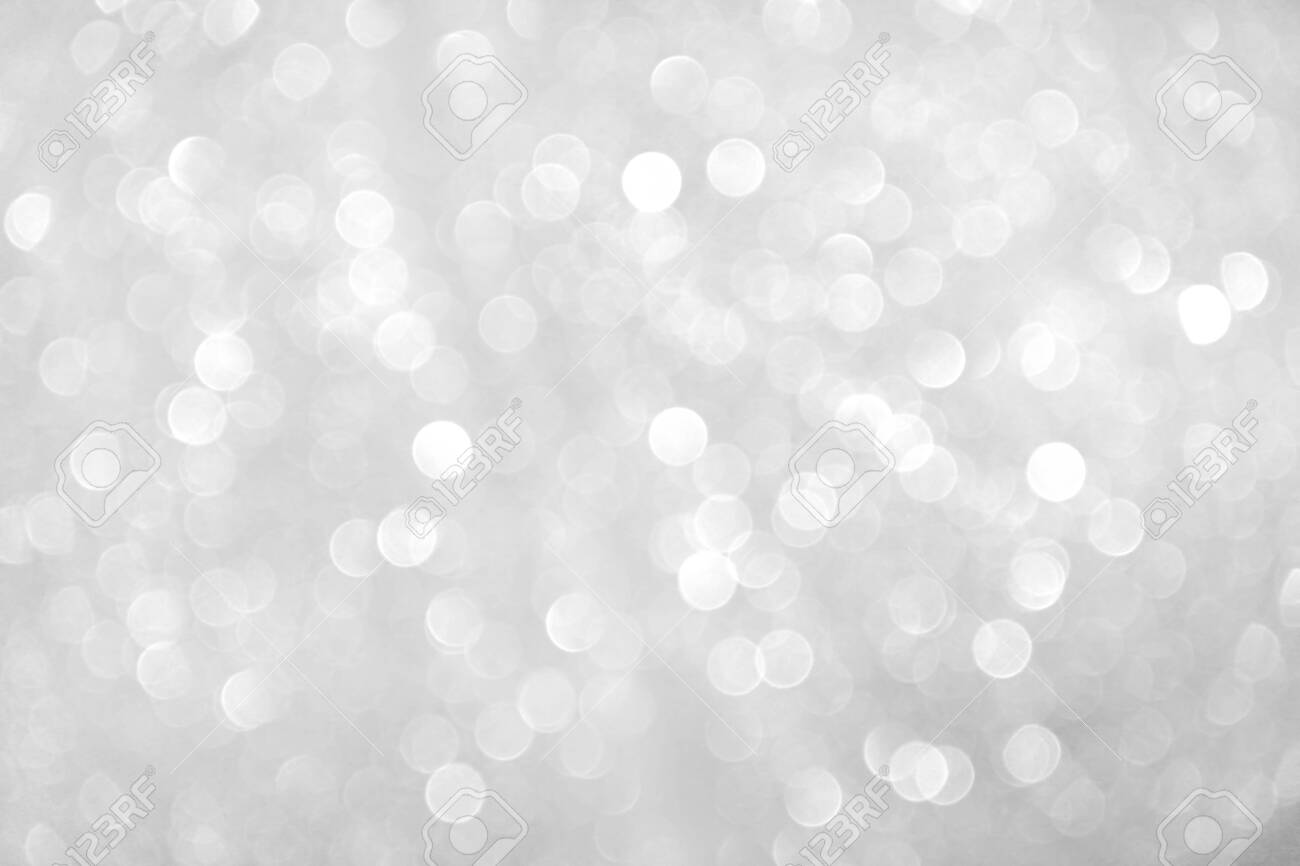 Gray sparkle bokeh glitter abstract on background - 138350626