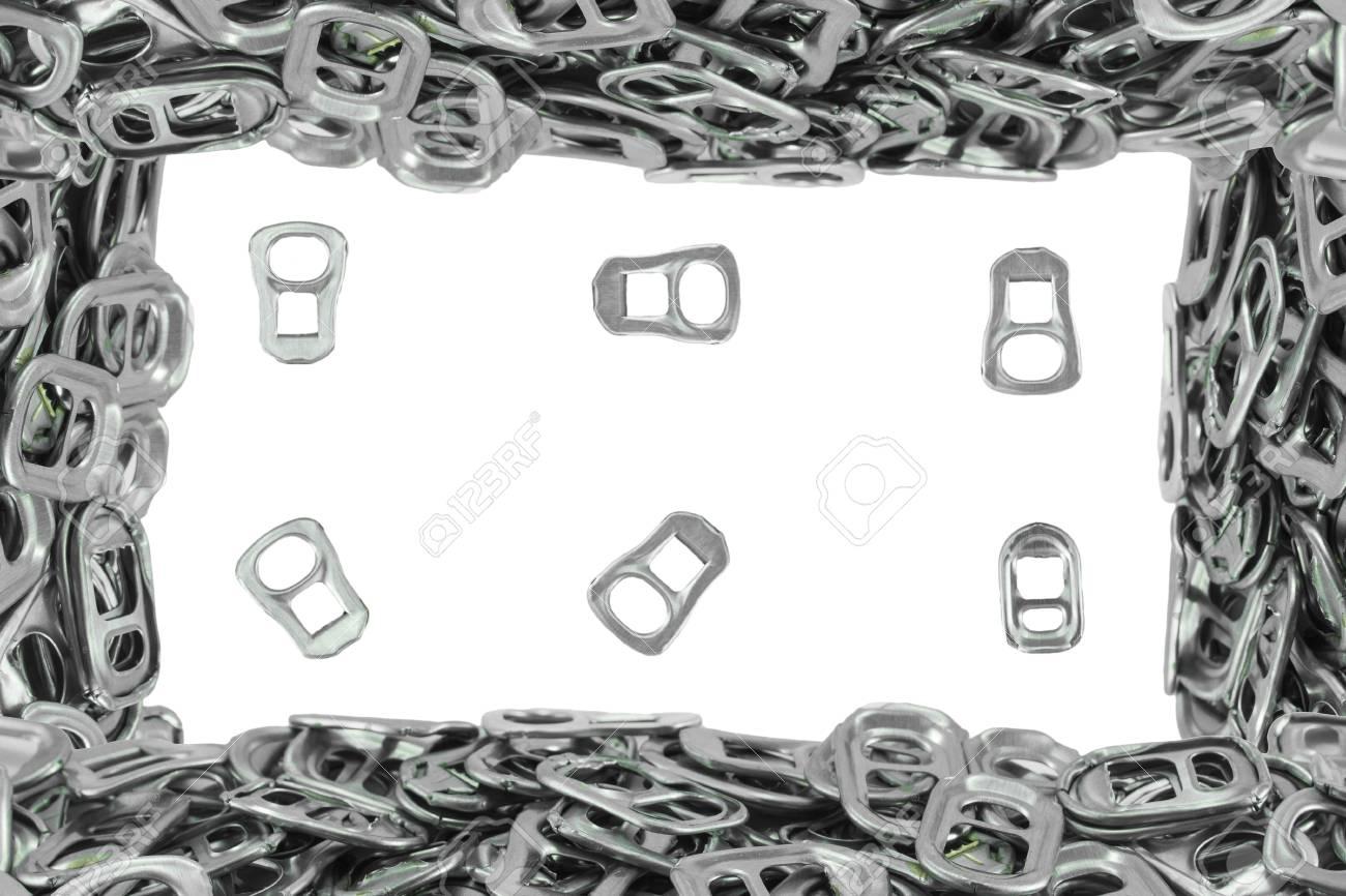 Der Rahmen Des Metallrings Pull Auf Weißem Hintergrund Lizenzfreie ...