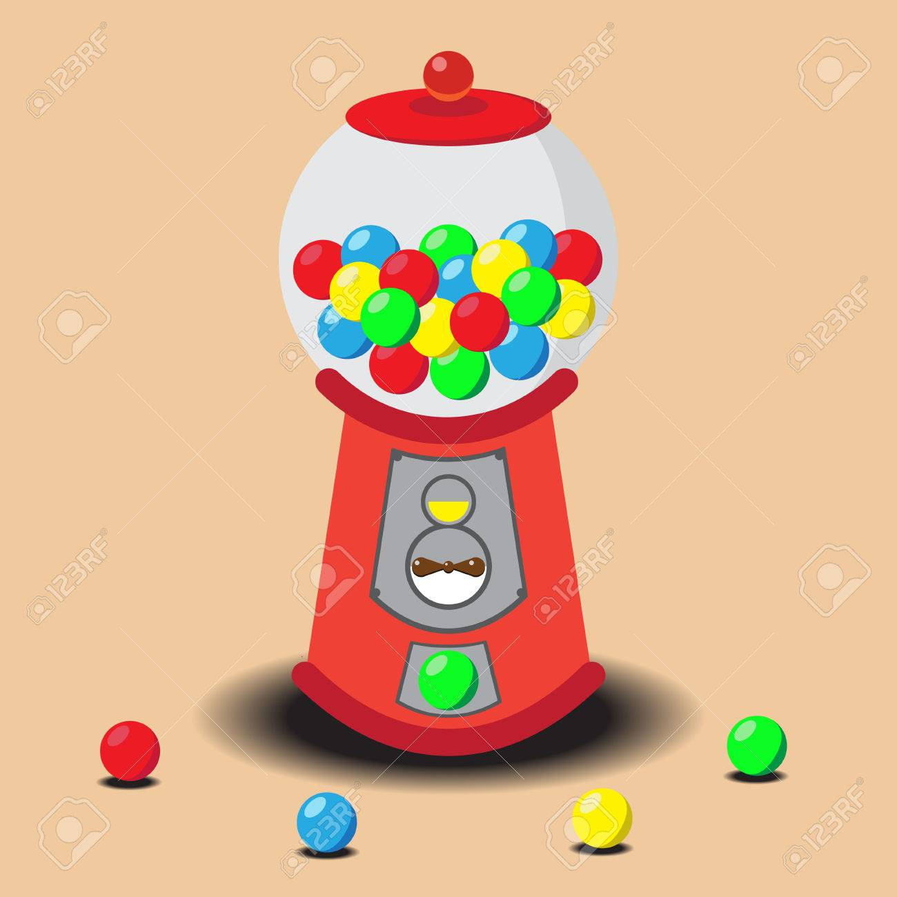 gumball machine vector royalty free cliparts vectors and stock