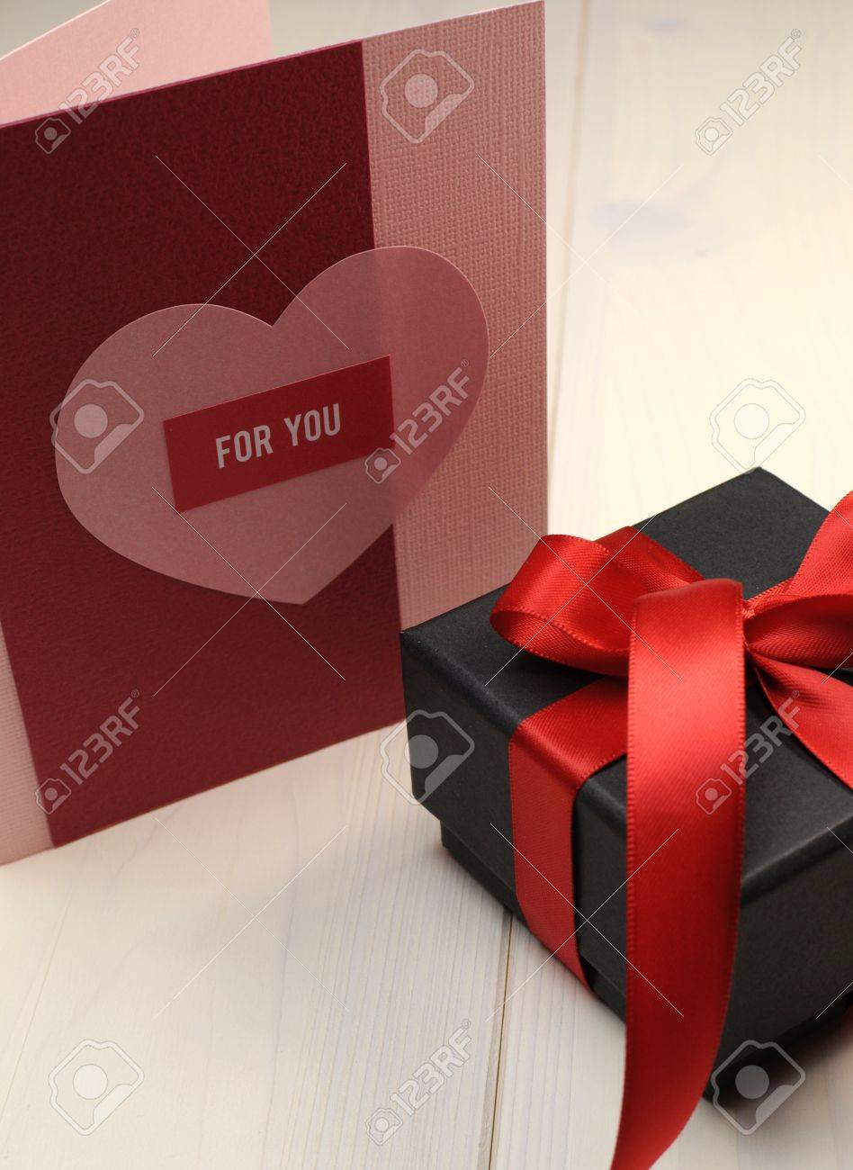 Handmade Gift Card With For You Greeting And Romantic Love Stock