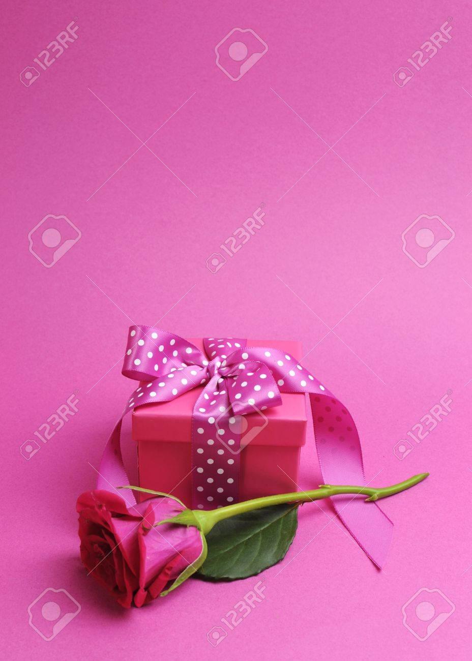 Pretty Pink Ribbon Pretty Pink Gift With Polka