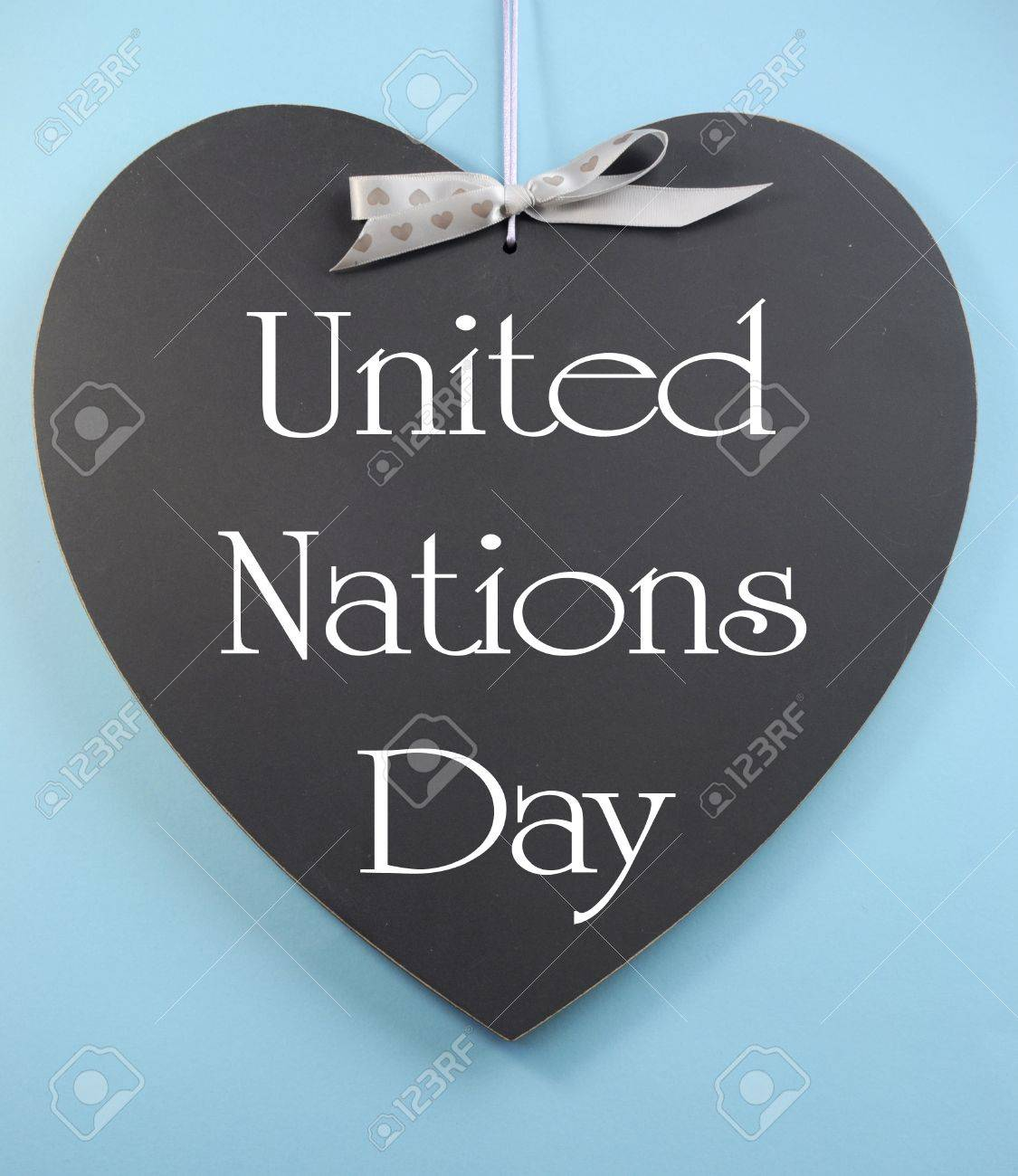 United Nations Day Text Message Greeting Written On Heart Shape