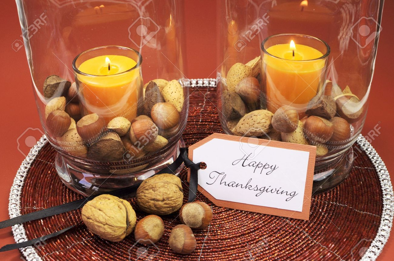 Thanksgiving Table Settings beautiful happy thanksgiving table setting centerpiece with ornage