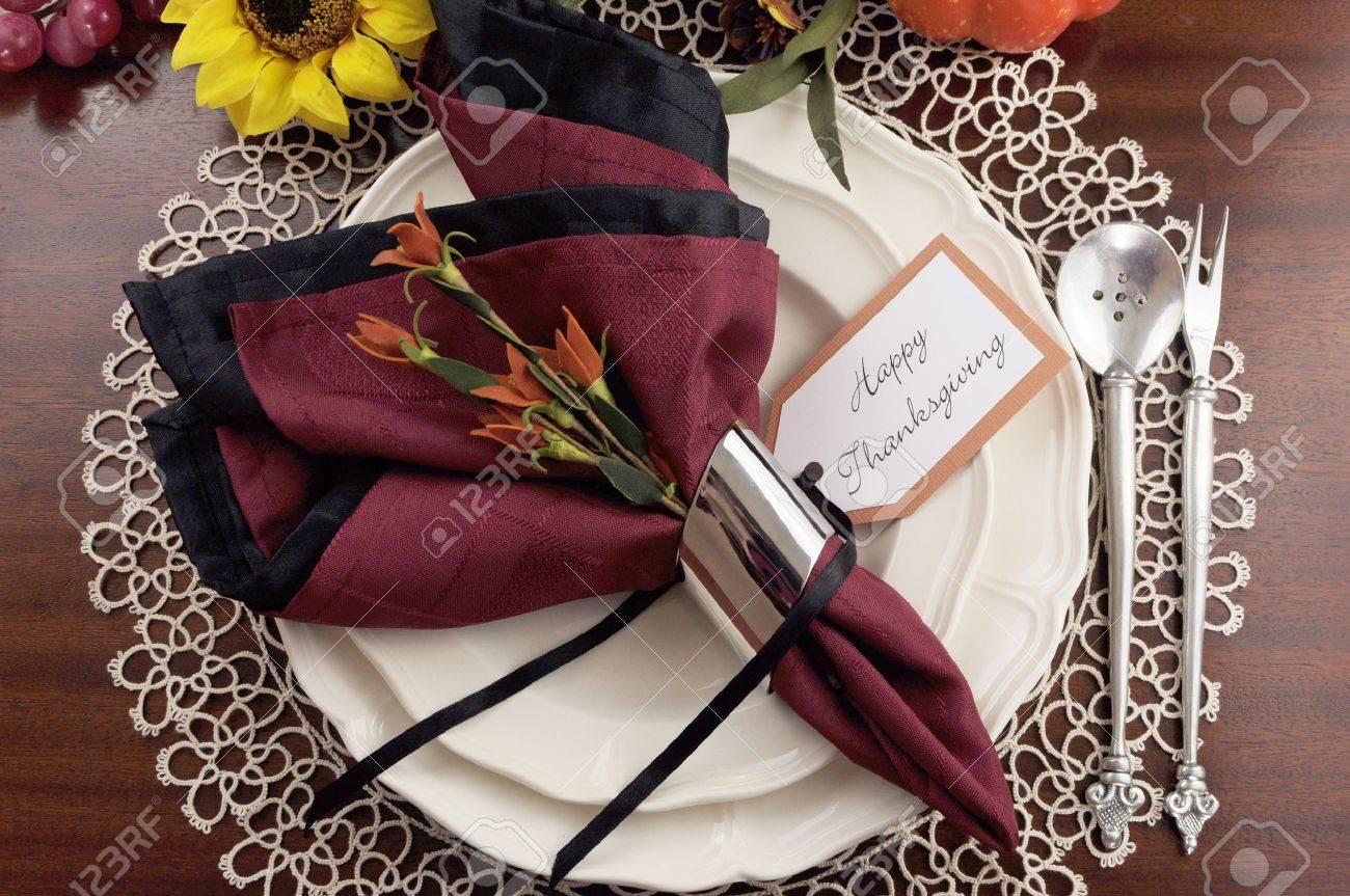 Beautiful Thanksgiving Tables beautiful thanksgiving table setting with lace doily place setting