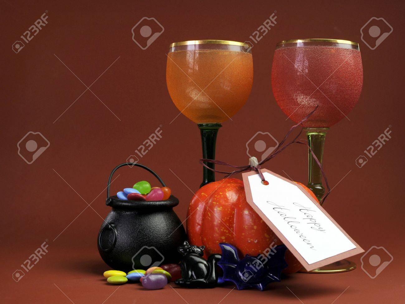 Happy Halloween Table Setting Decorations With Gothic Red And ...