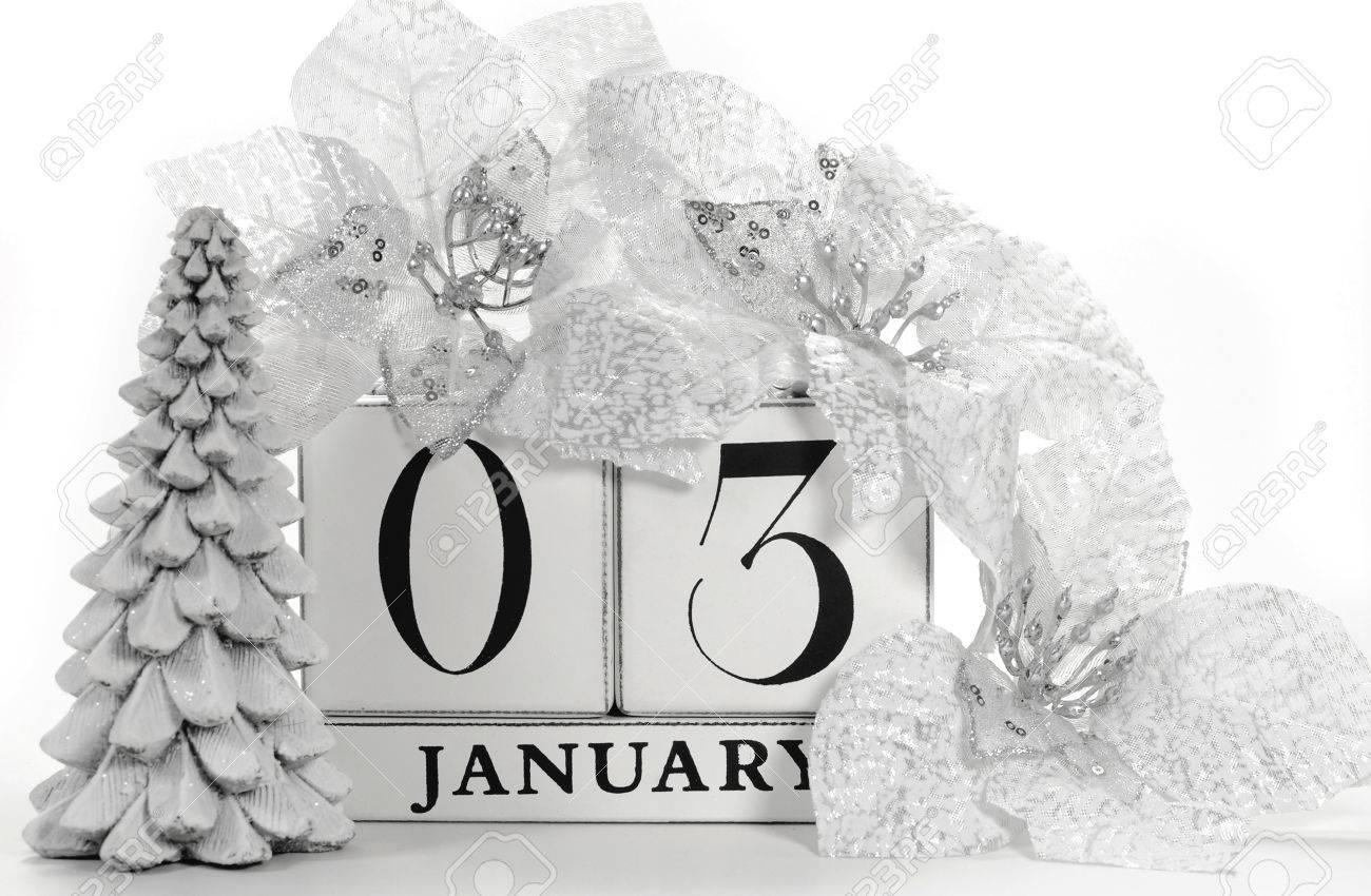 Speichern Sie Den Datums Kalender Mit Weissen Winter Thema Farben