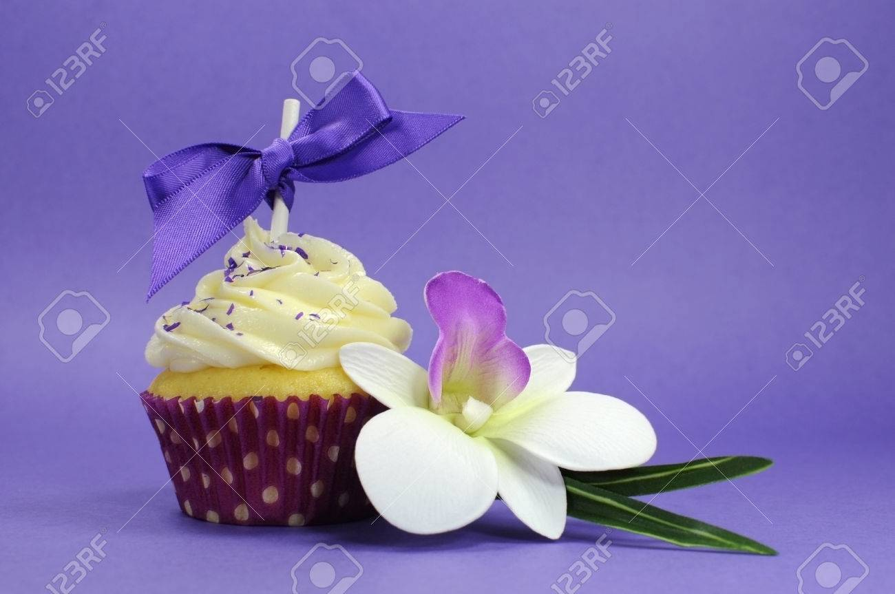 Purple theme cupcake with orchid flower for wedding bridal or purple theme cupcake with orchid flower for wedding bridal or baby shower mothers day izmirmasajfo
