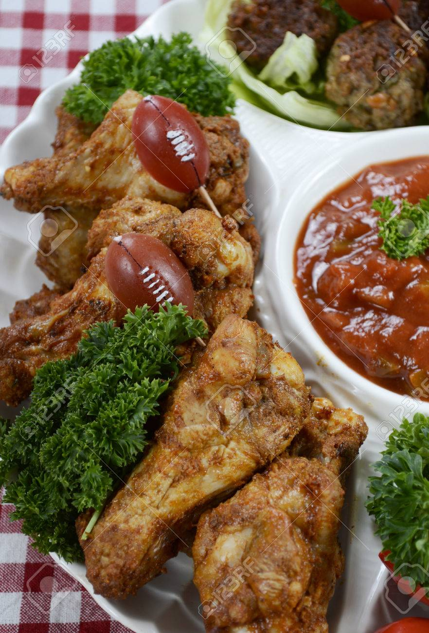 Super Bowl Sunday Football Party Celebration Food Platter With Stock Photo Picture And Royalty Free Image Image 35758173