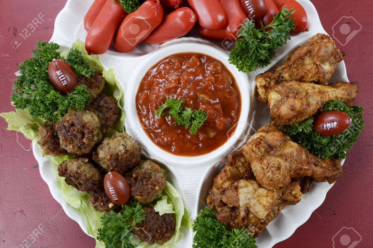 Super Bowl Sunday Football Party Celebration Food Platter With Stock Photo Picture And Royalty Free Image Image 35758187