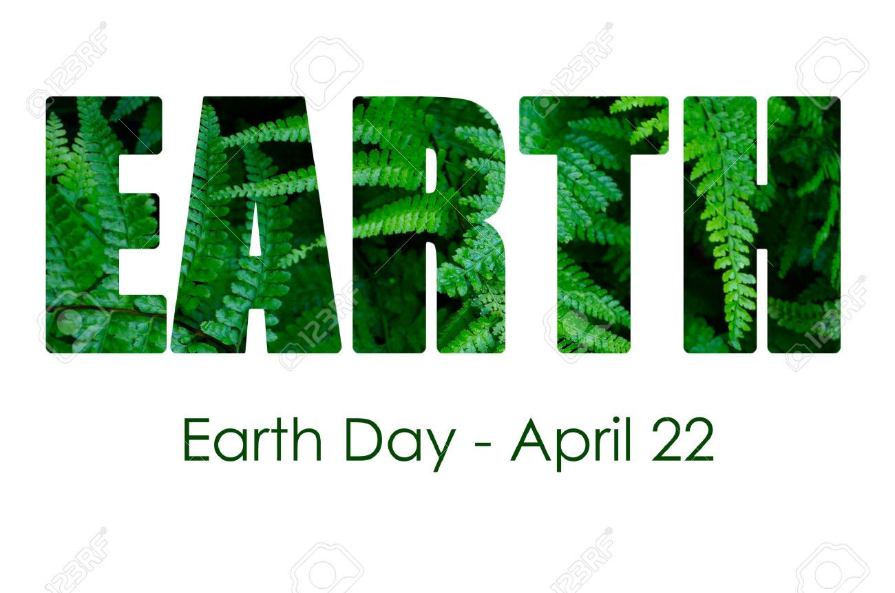 Happy Earth Day. 22 April. Abstract green planet on white ...
